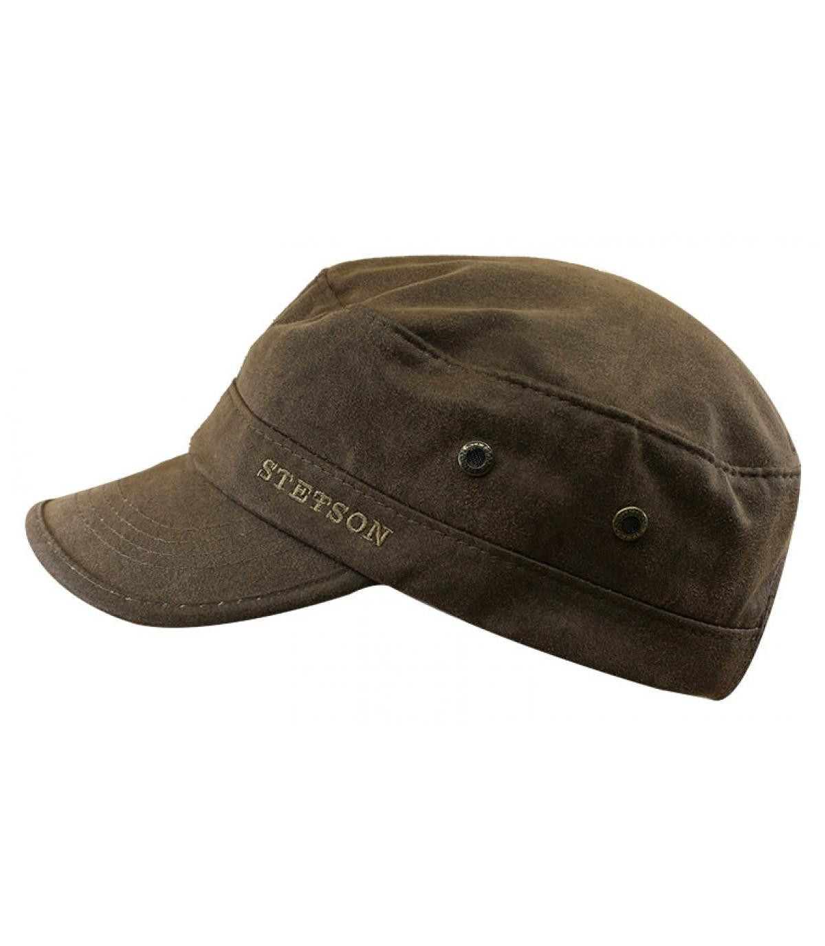 brown cotton army cap