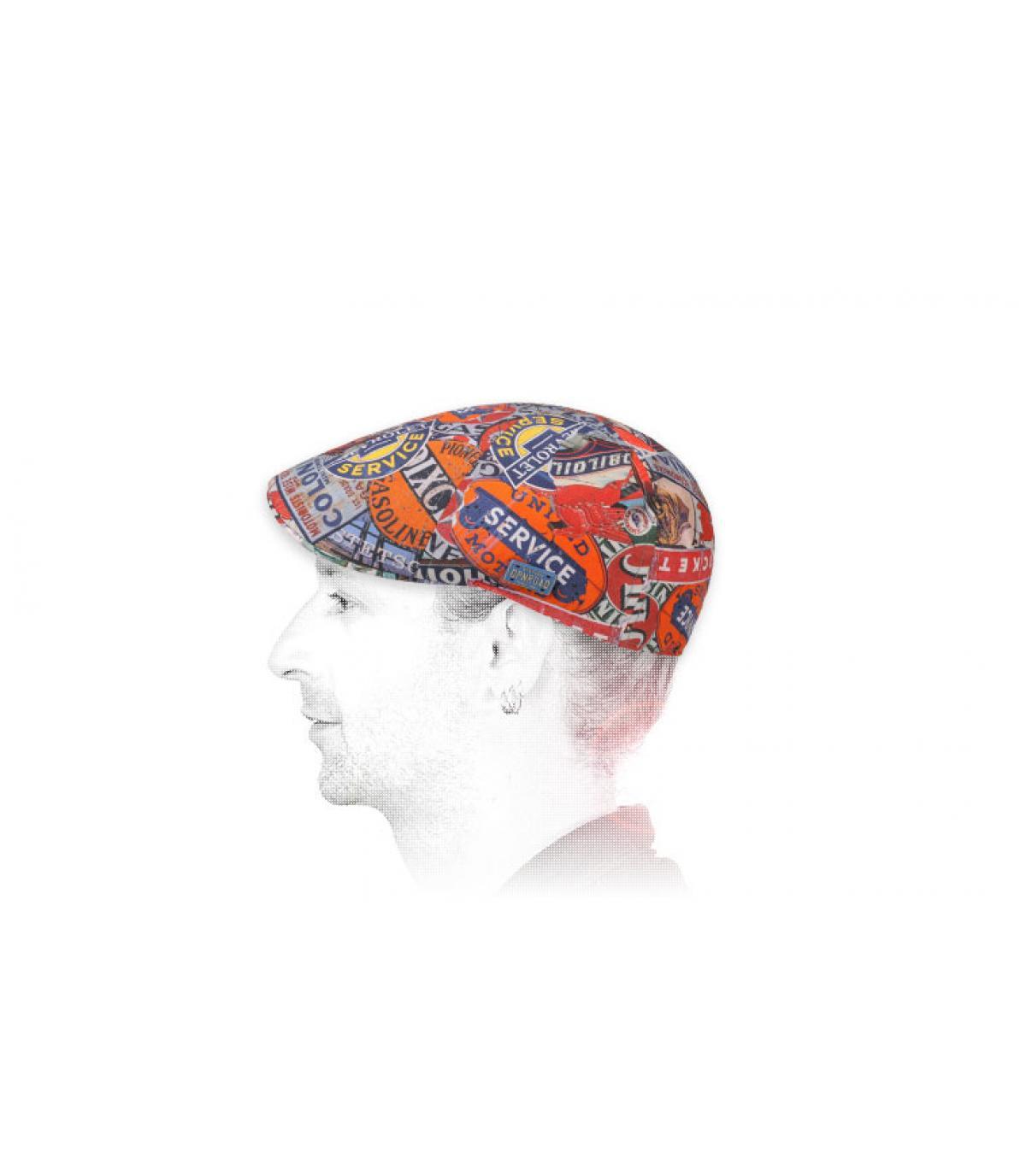 printed duckbill cap Stetson