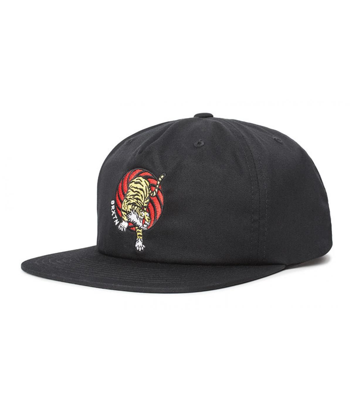 Brixton black cap tiger