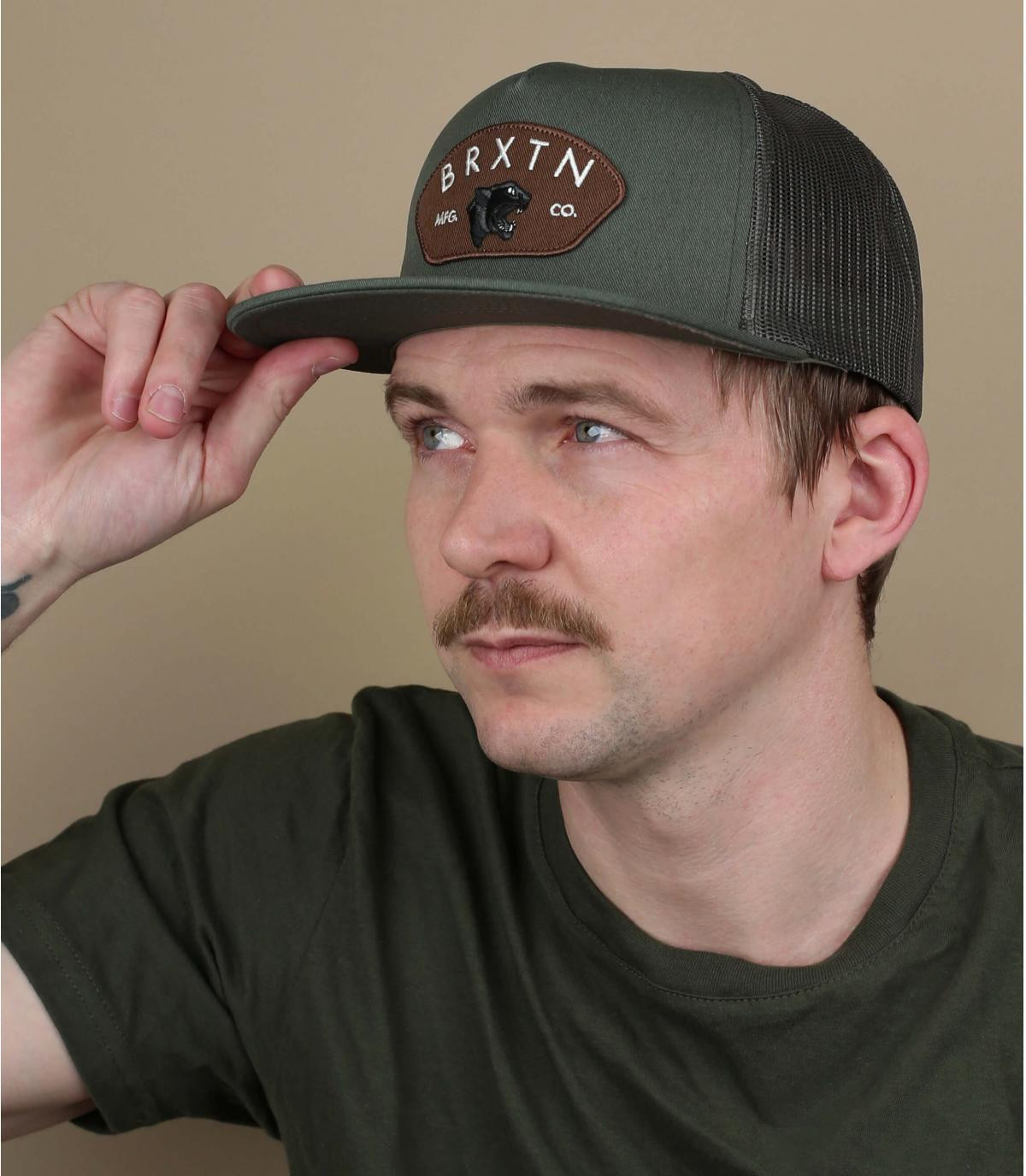 green Brixton trucker