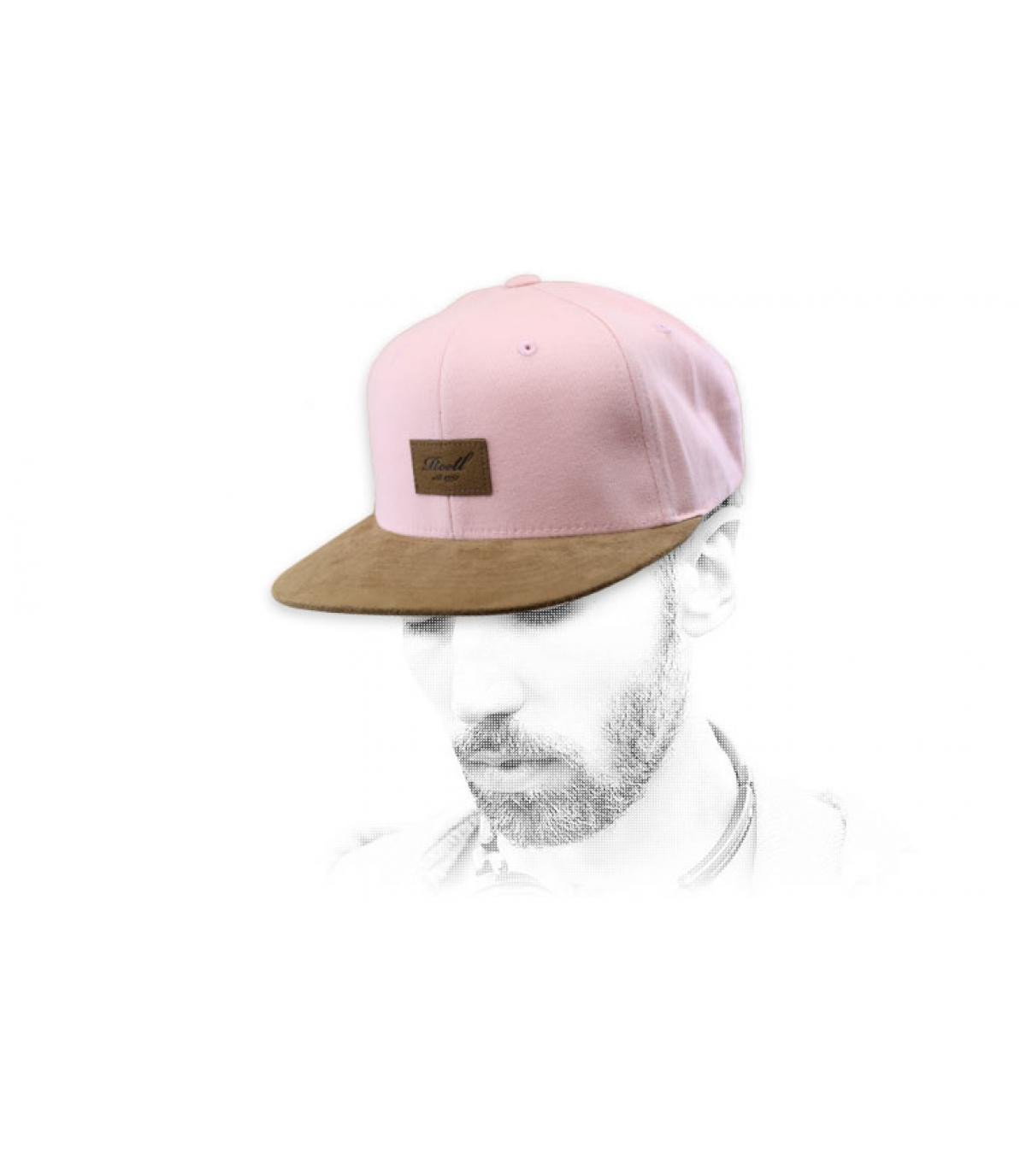 Reell snapback pink suede