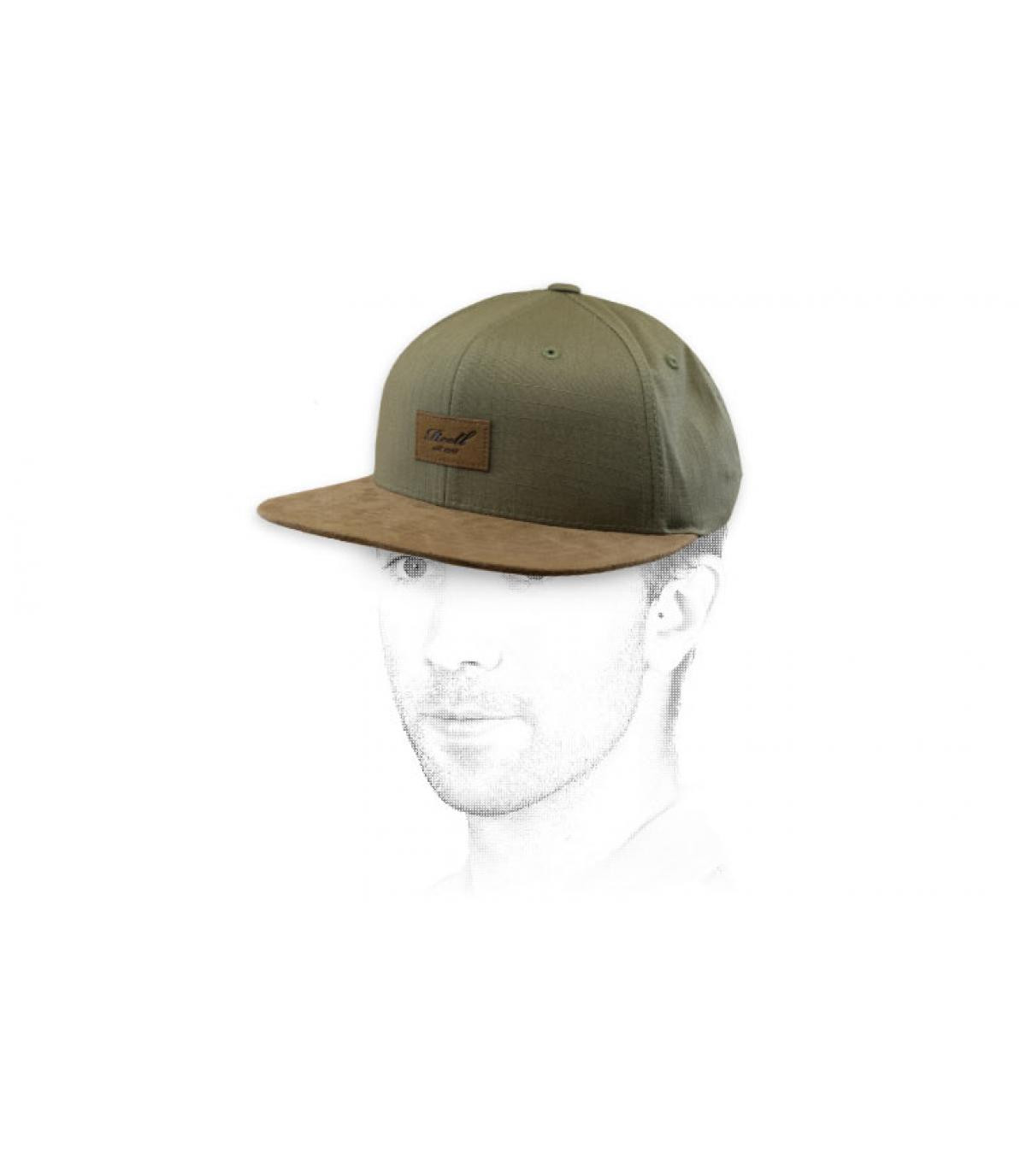 Reell snapback green suede
