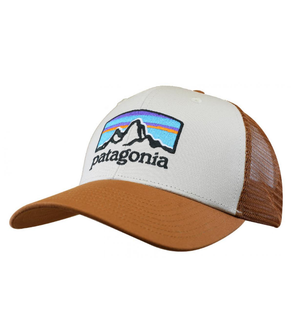 brown Patagonia trucker