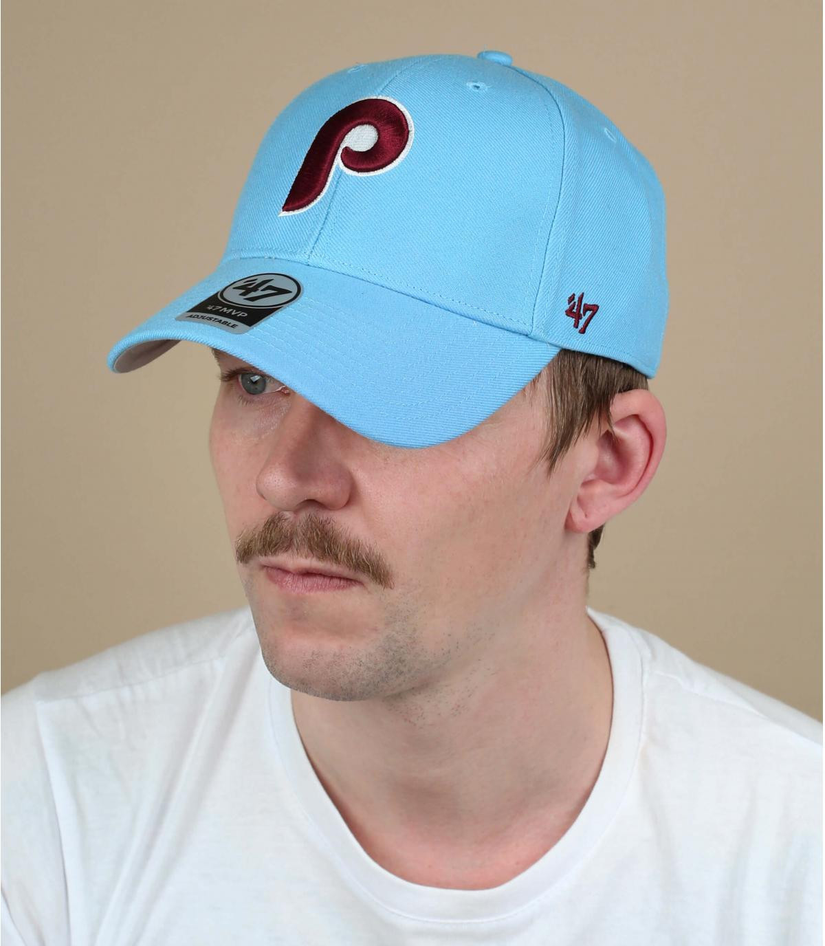 blue P cap