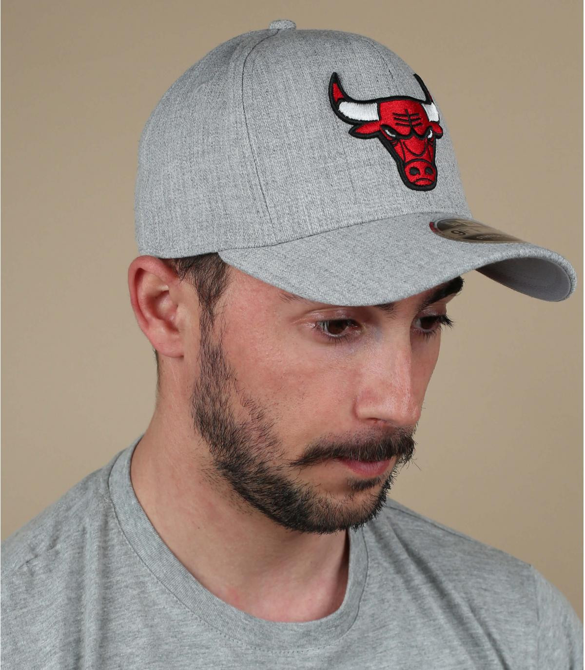 grey Bulls cap