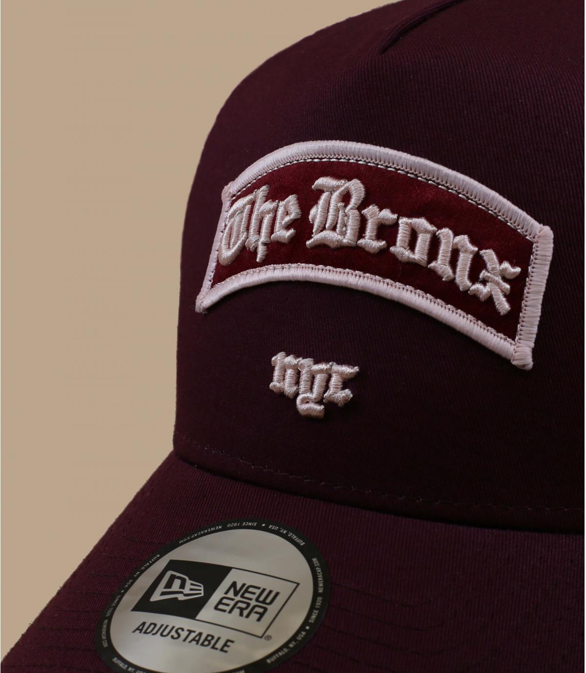 Détails Trucker Borough Bronx burgundy - image 2