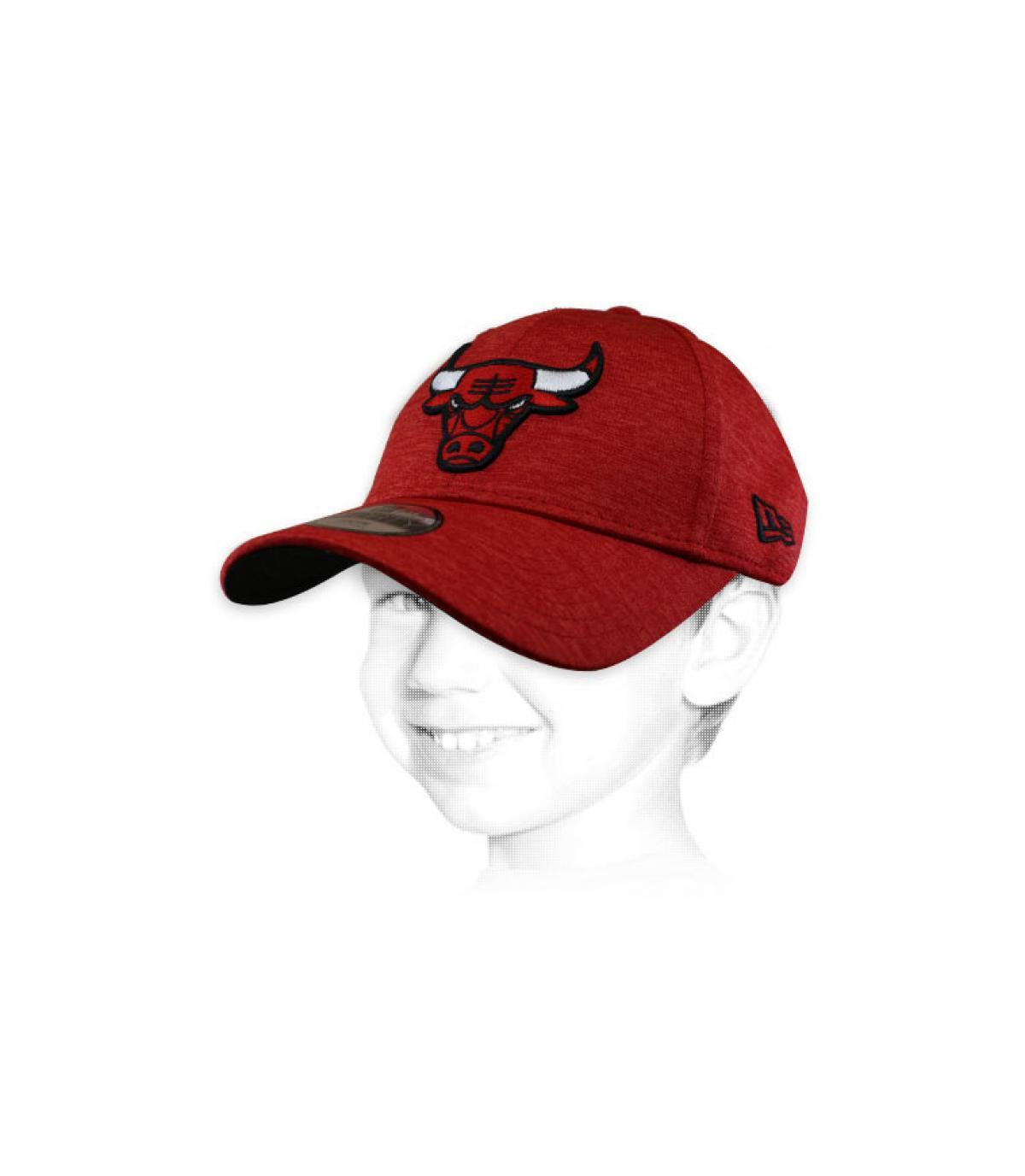 Bulls red kid cap