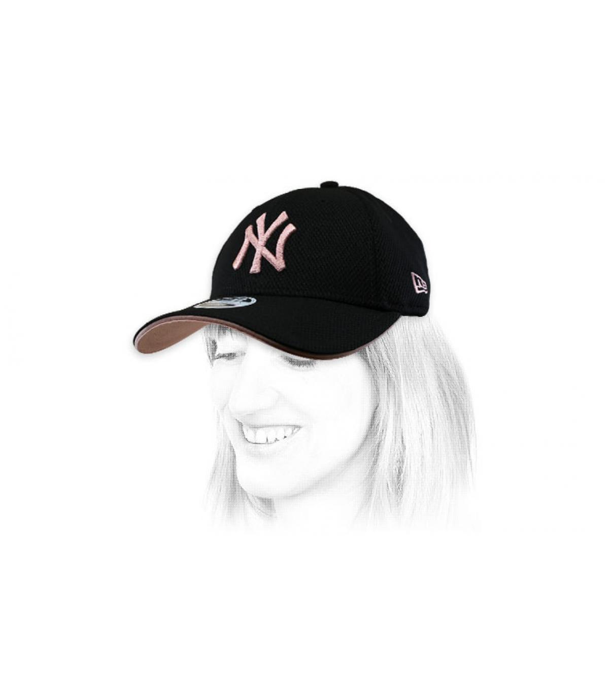 women black pink NY cap