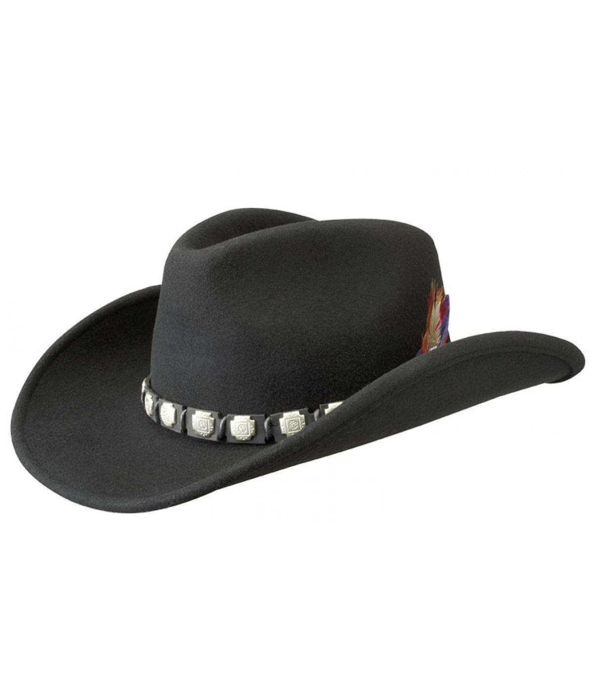 Stetson black cowboy hat