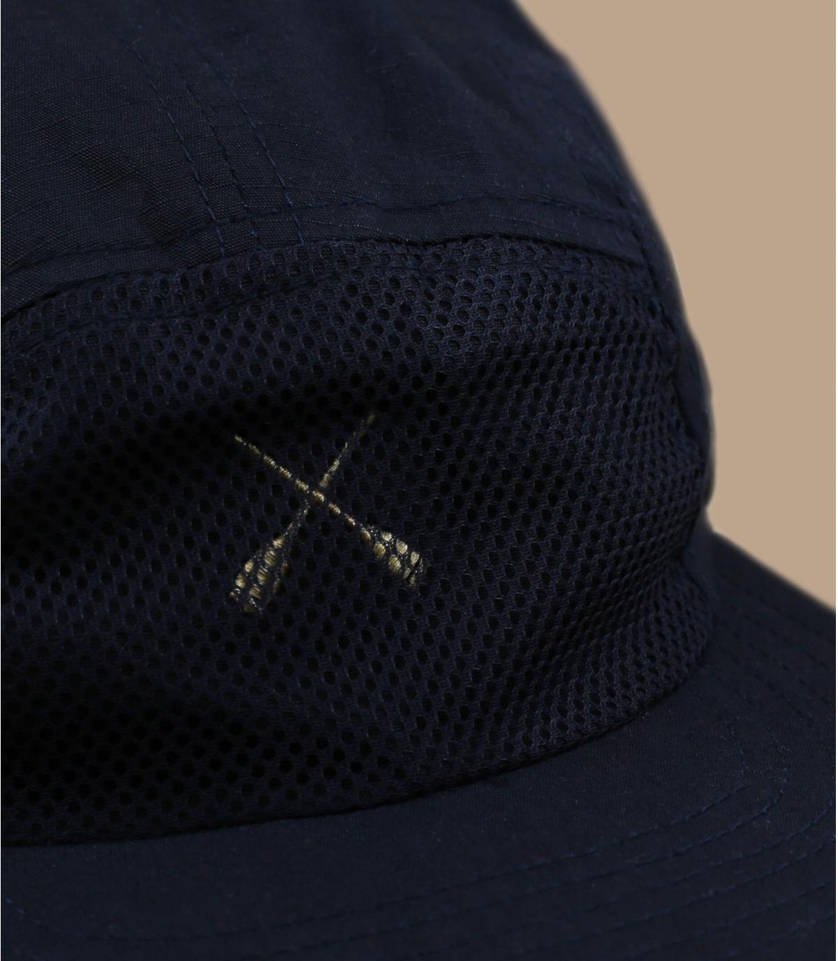 navy blue 5 panel cap