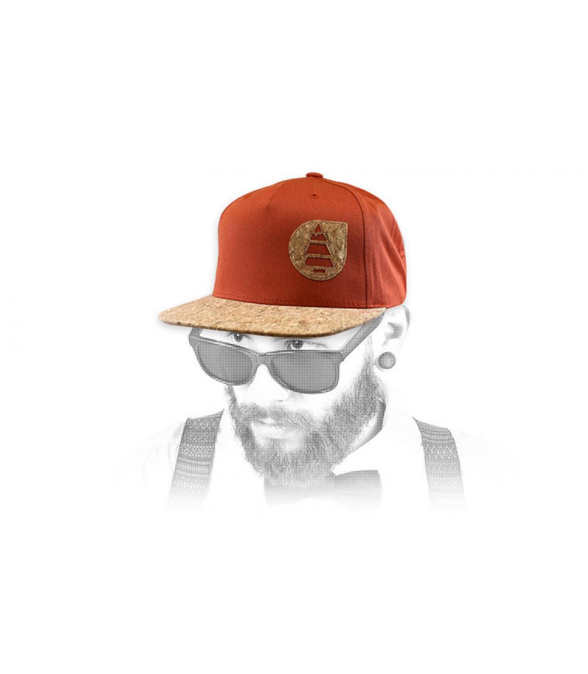 Picture cap orange cork
