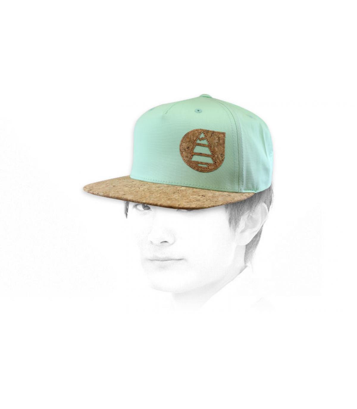 Picture cap green cork