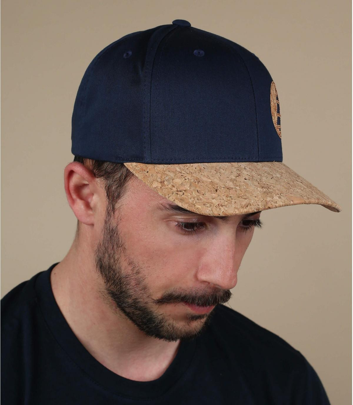 Picture cap blue