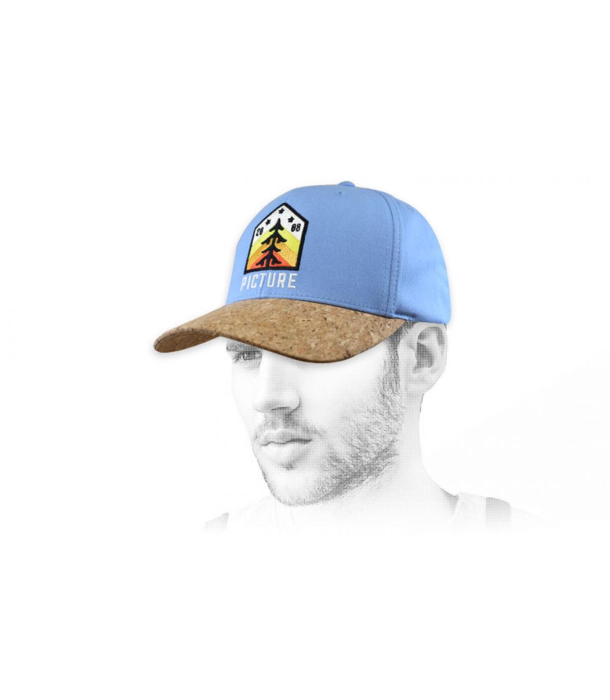 Picture cap blue patch