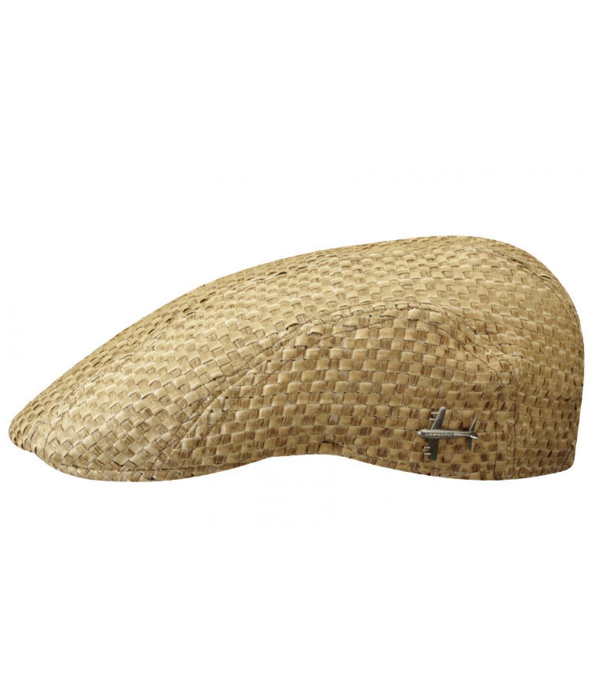 Stetson straw flat cap
