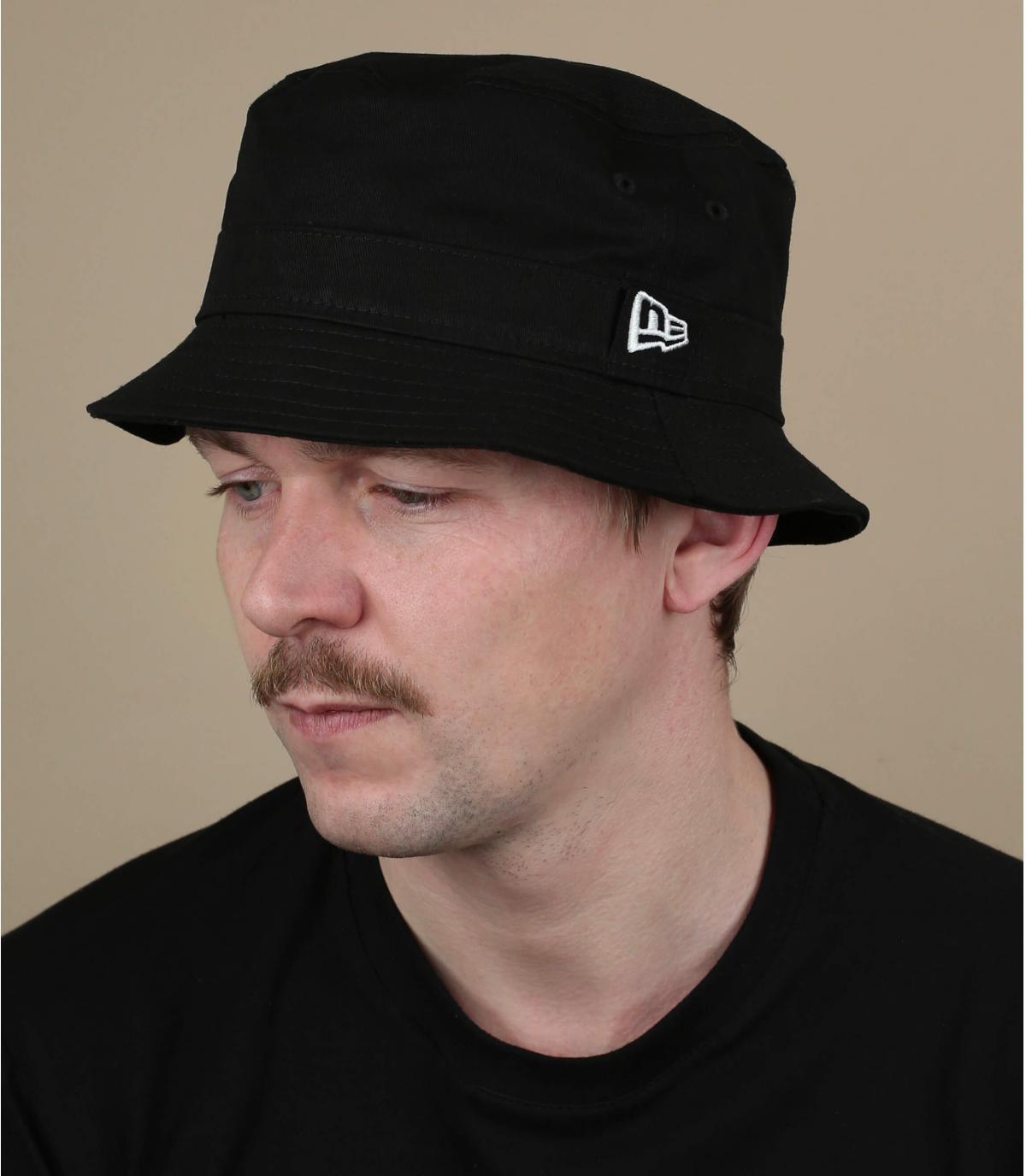 Black New Era bucket hat