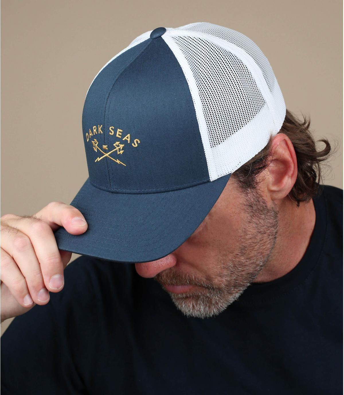 navy blue anchor curve cap