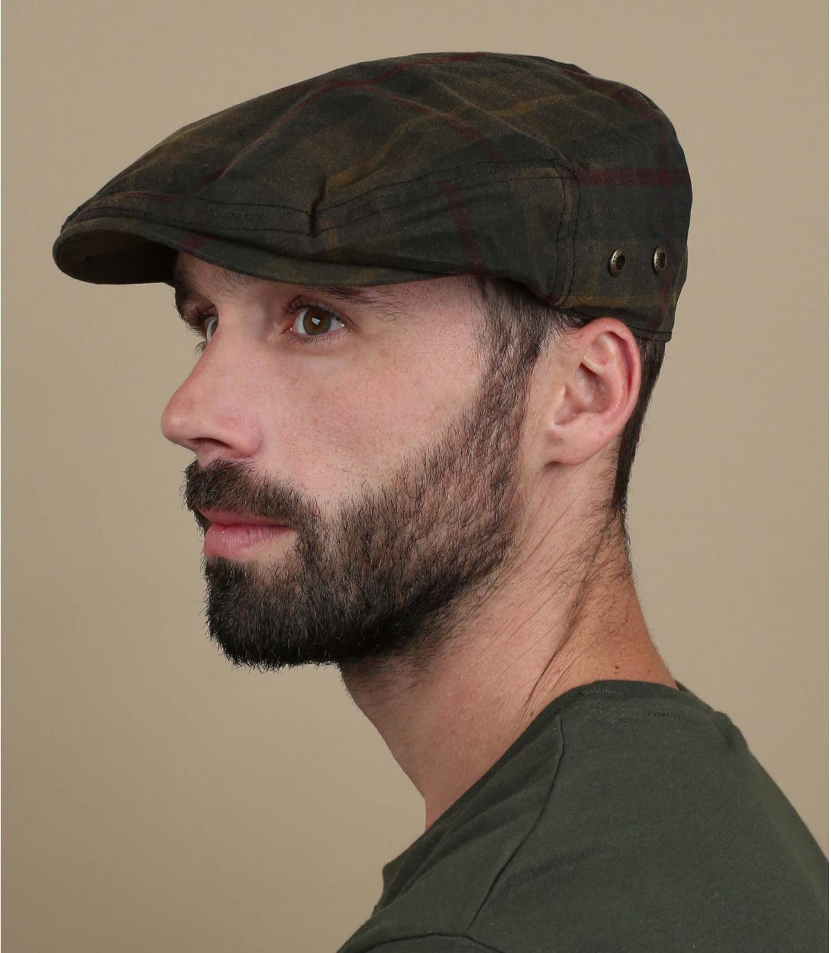 Stetson tartan flat cap