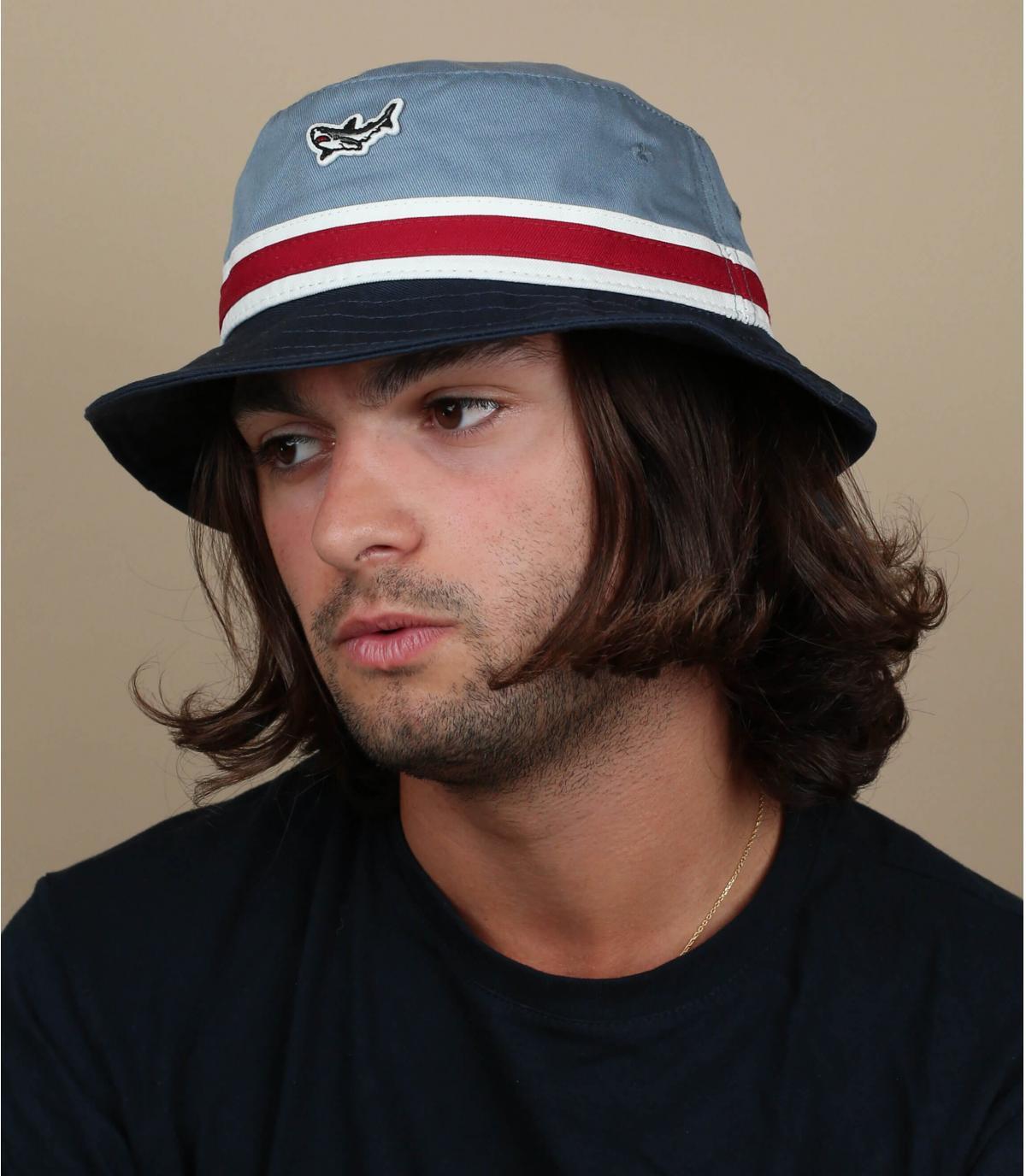 Blue Dark Seas bucket hat