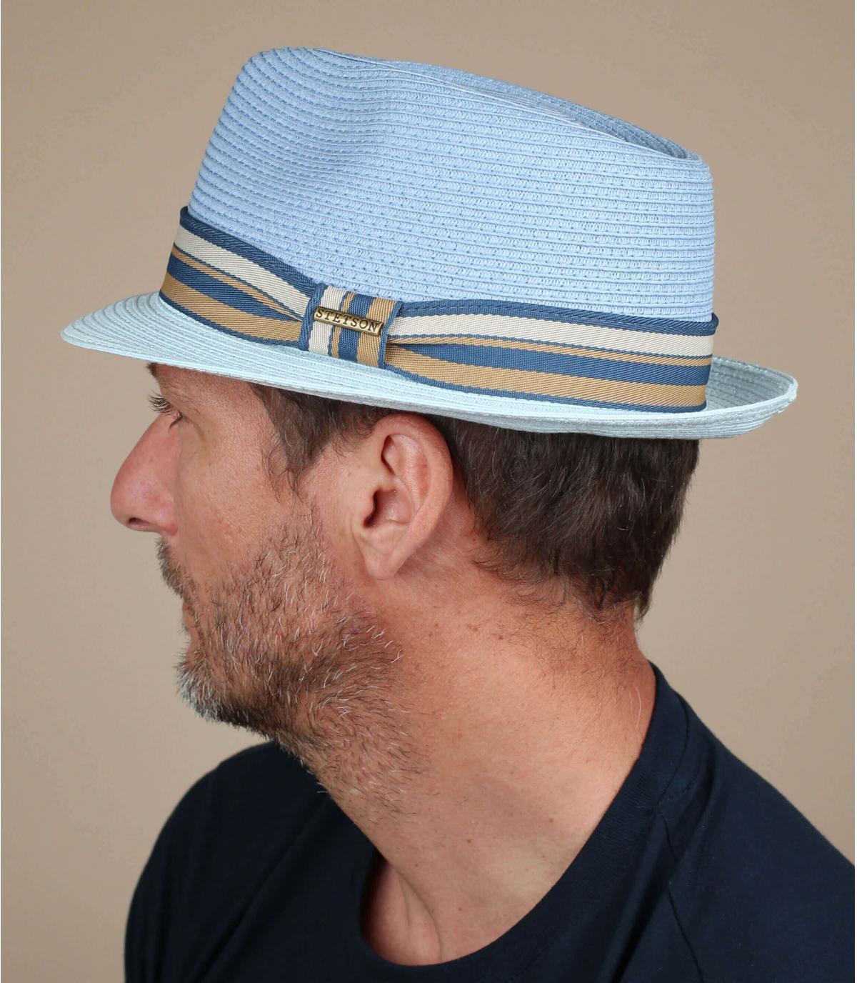 blue trilby Stetson