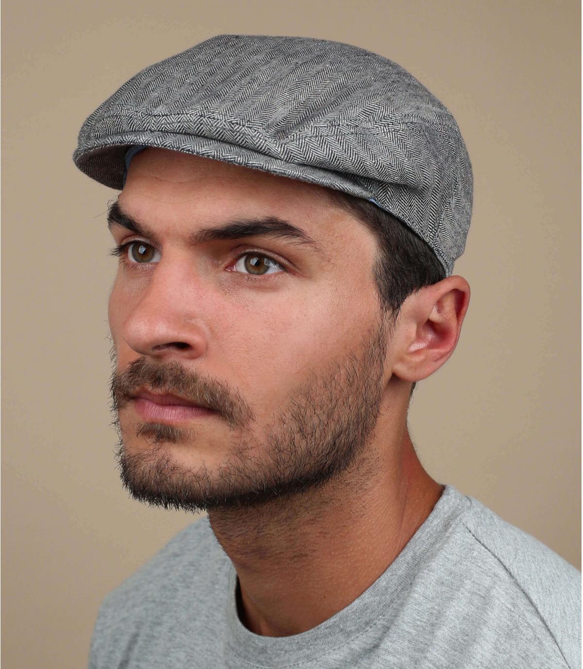 Stetson linen flat cap