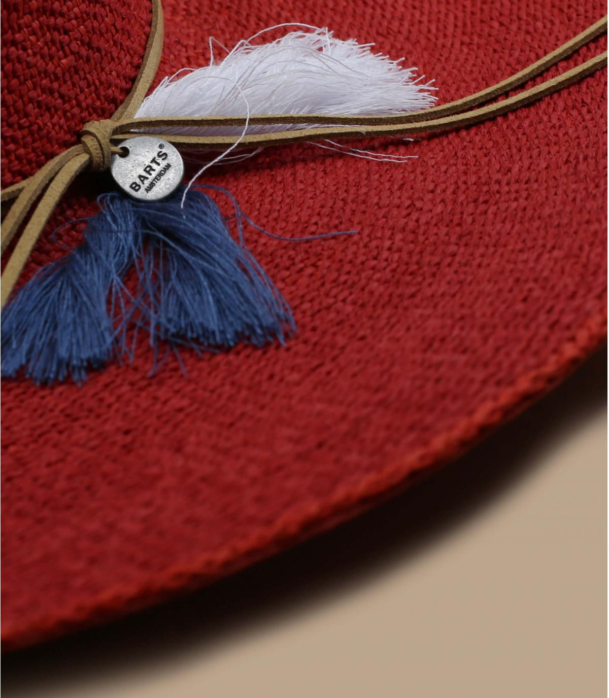 red floppy hat straw