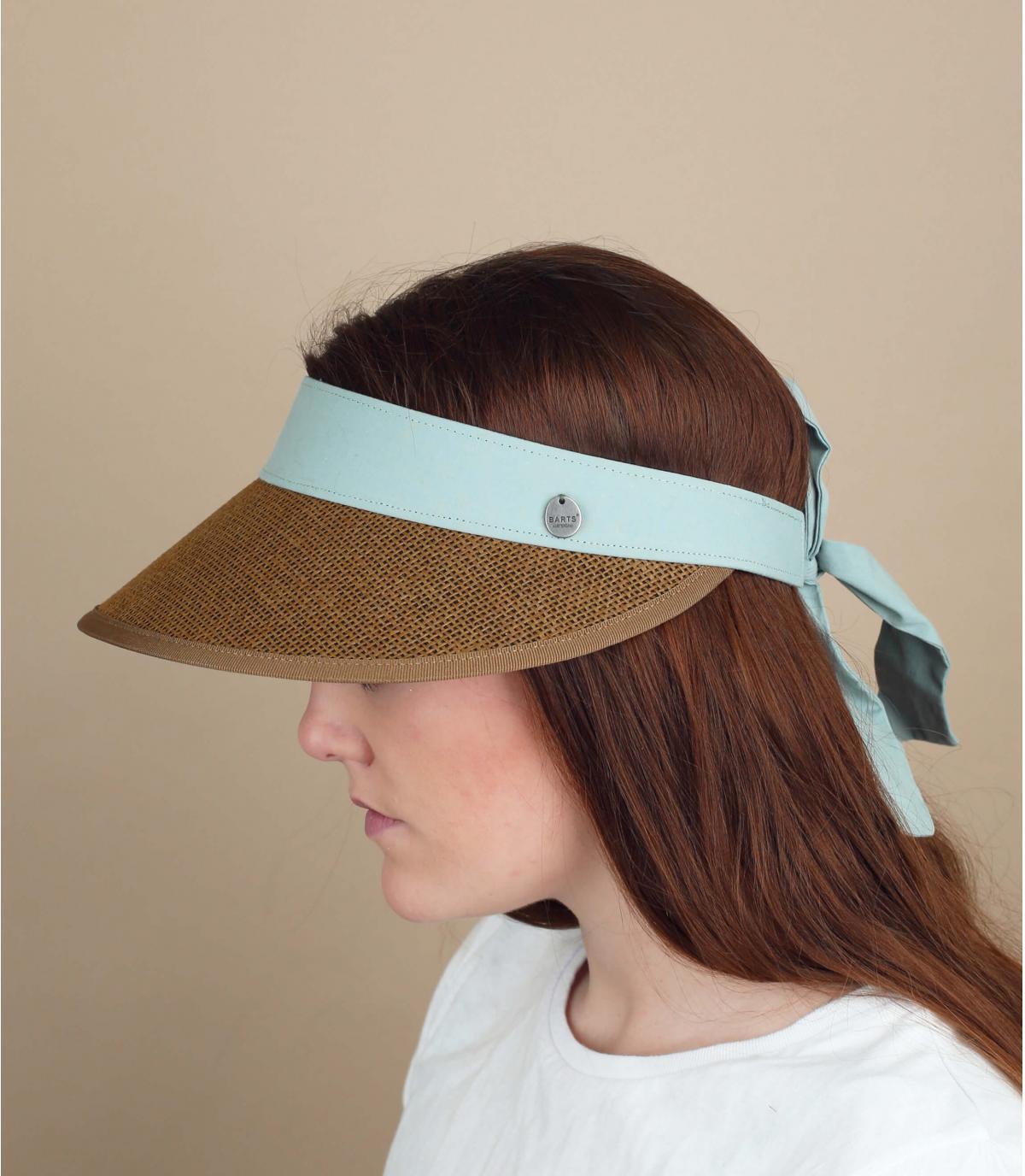 straw visor bow