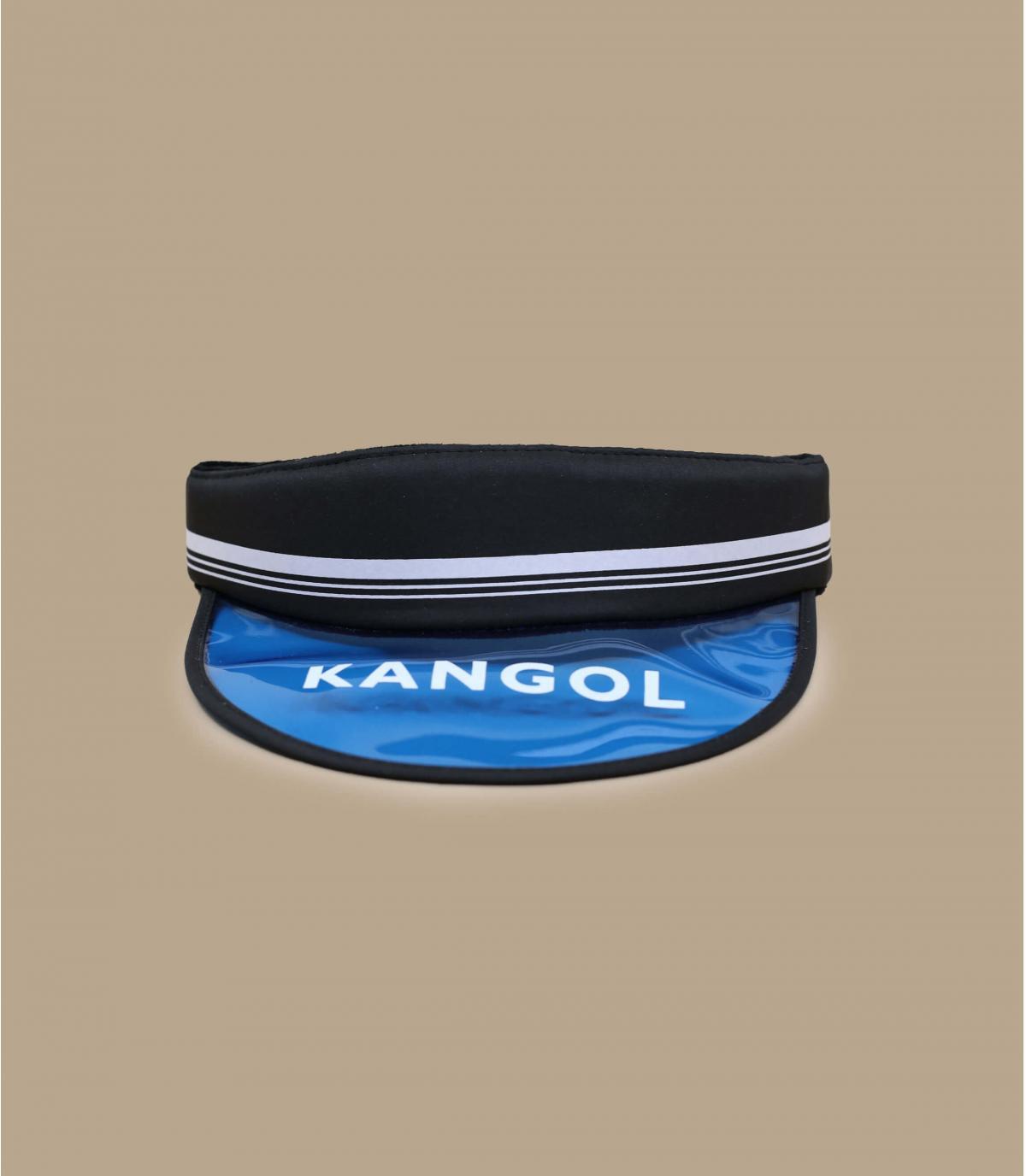 Blue black Kangol visor