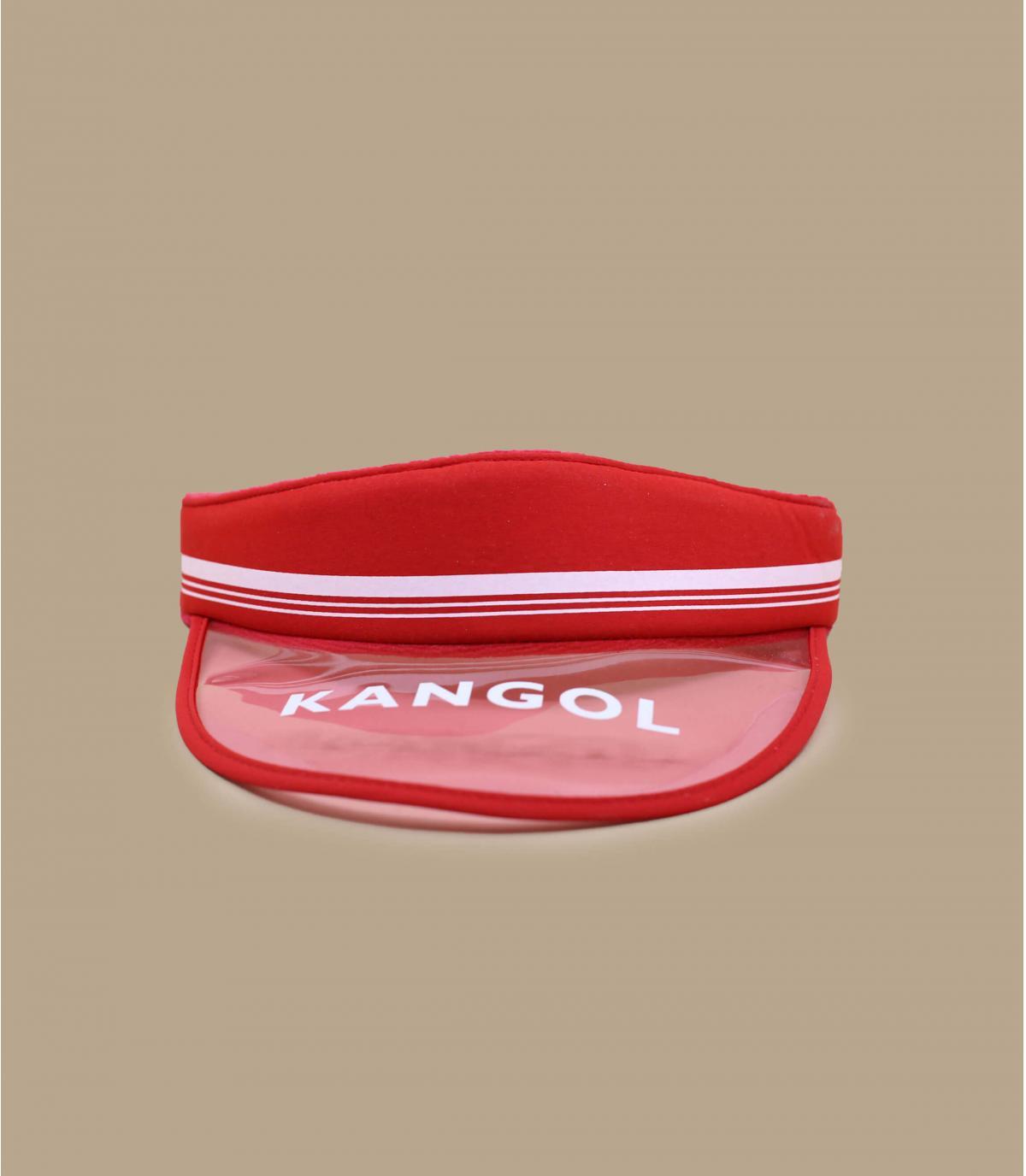 Red Kangol peak.