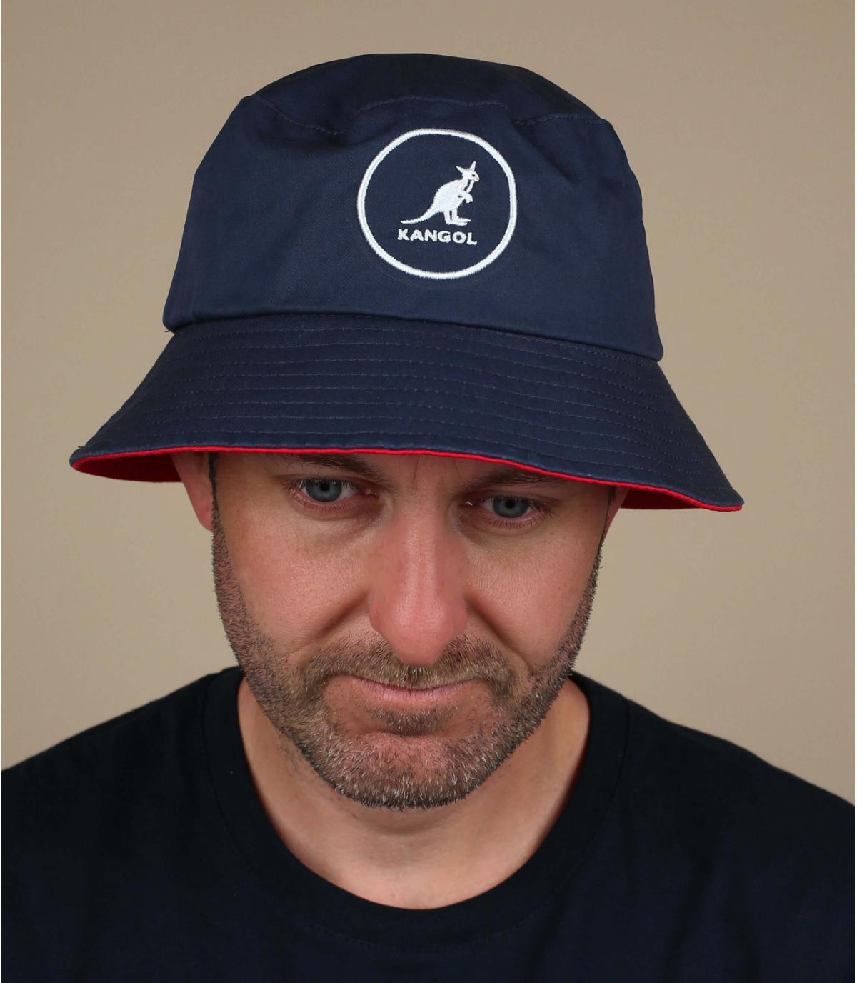 navy blue Kangol bucket hat
