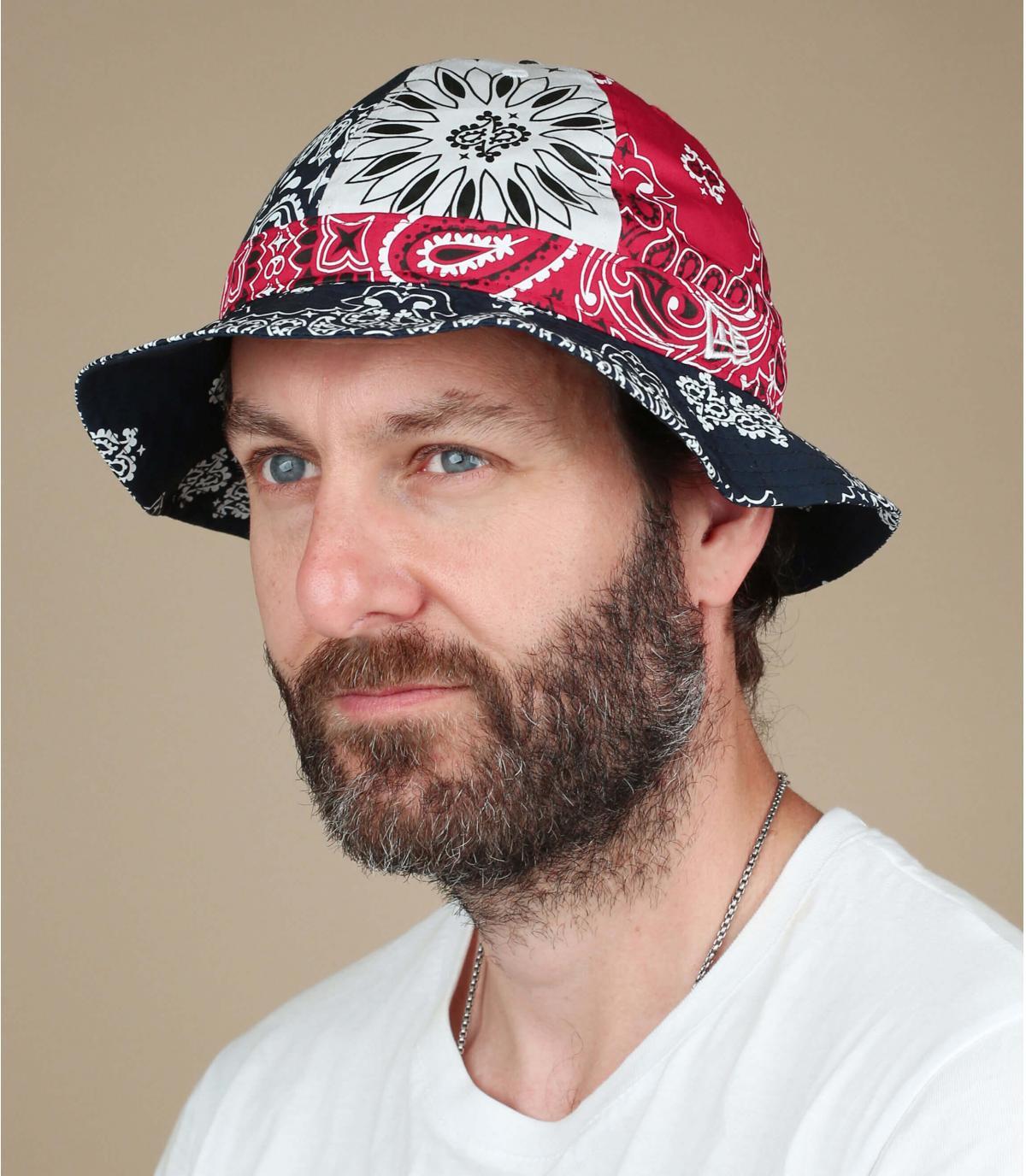New Era bandana bucket hat