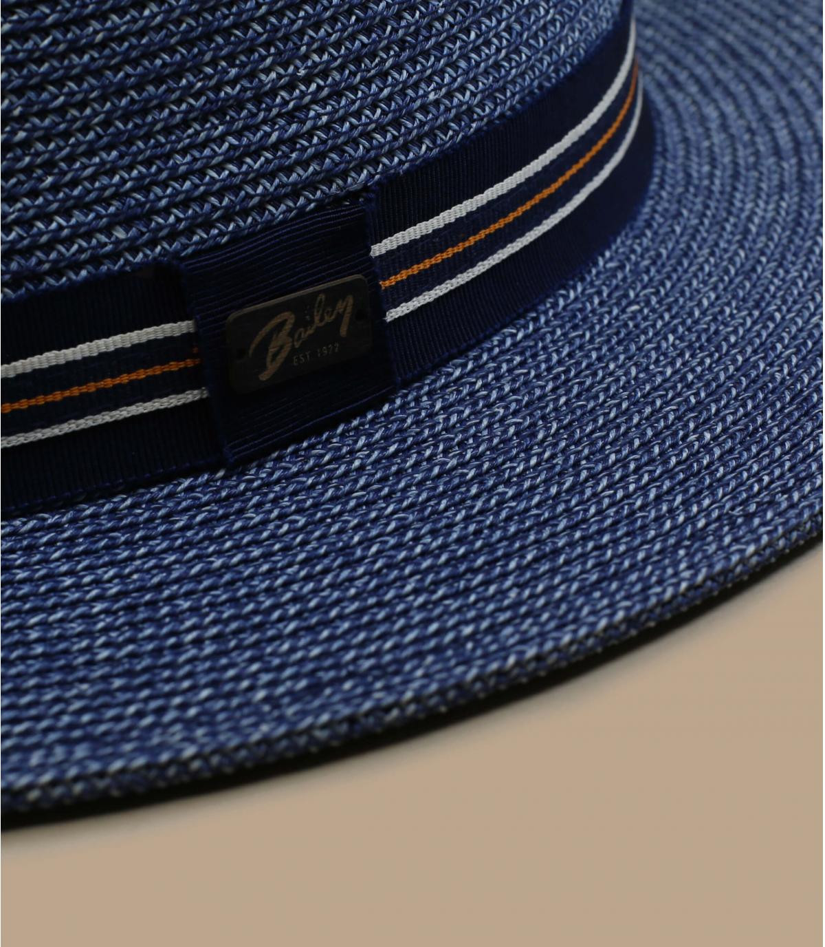 blue straw fedora Bailey