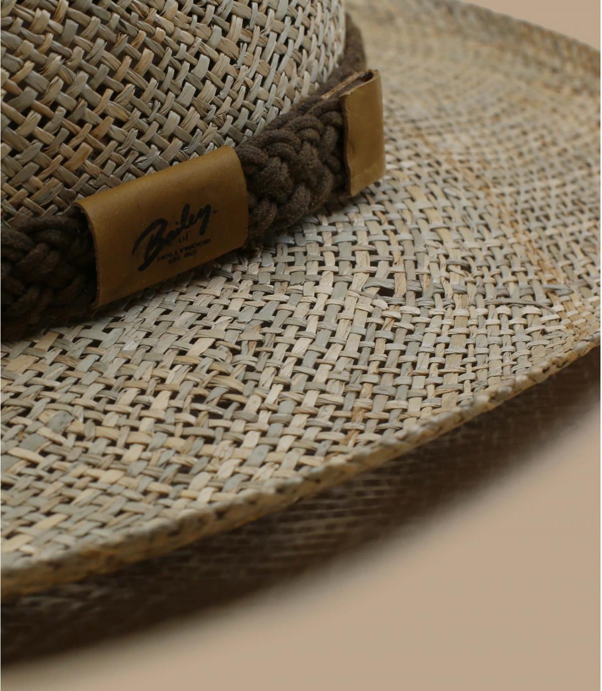 Fedora leather trim Bailey