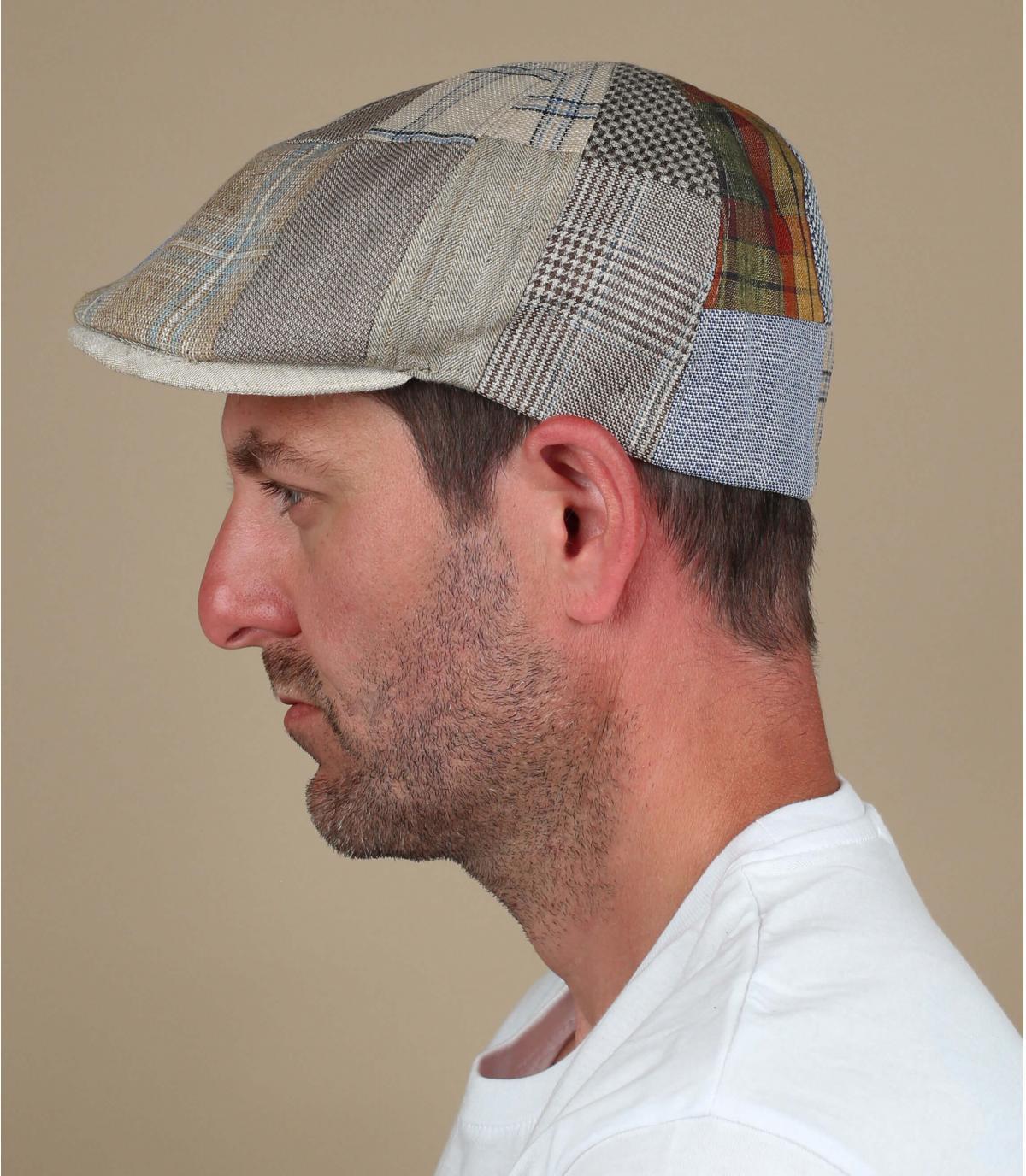 beige linen cap