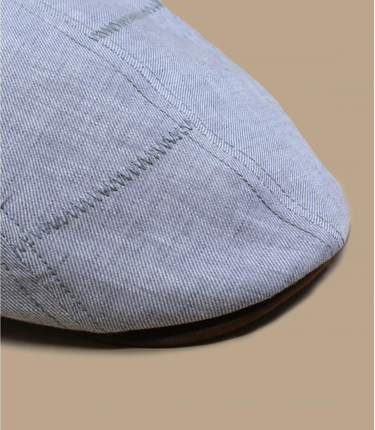 grey flat cap linen