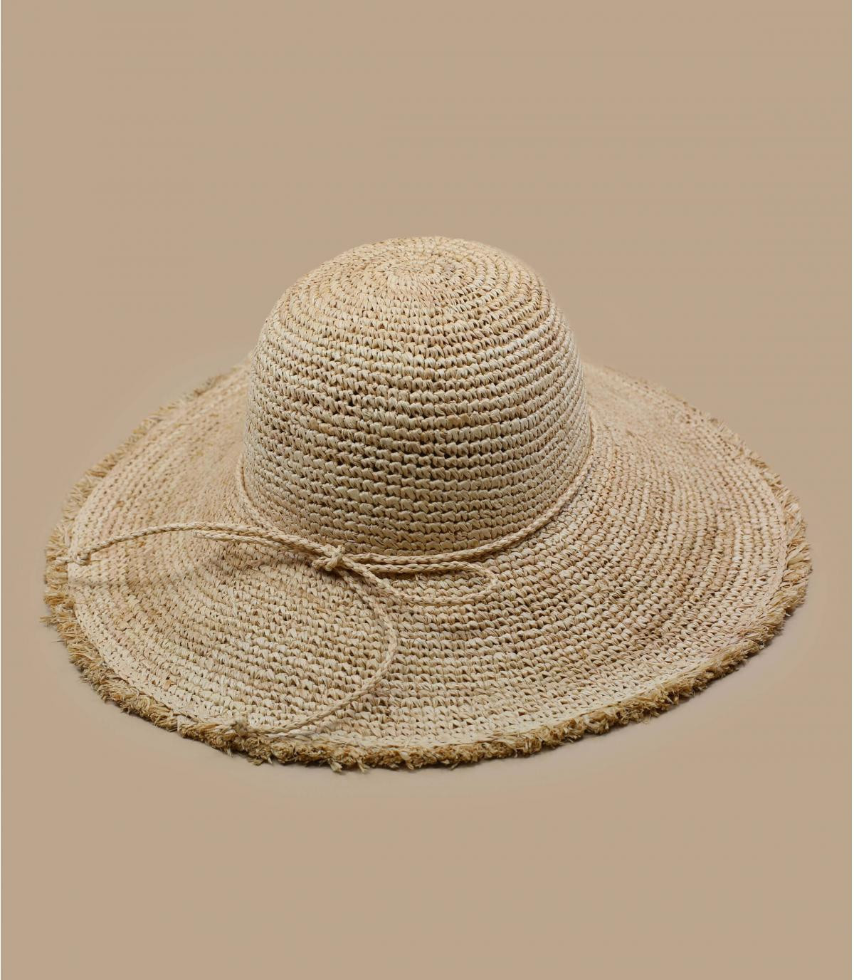 Foldable straw floppy hat