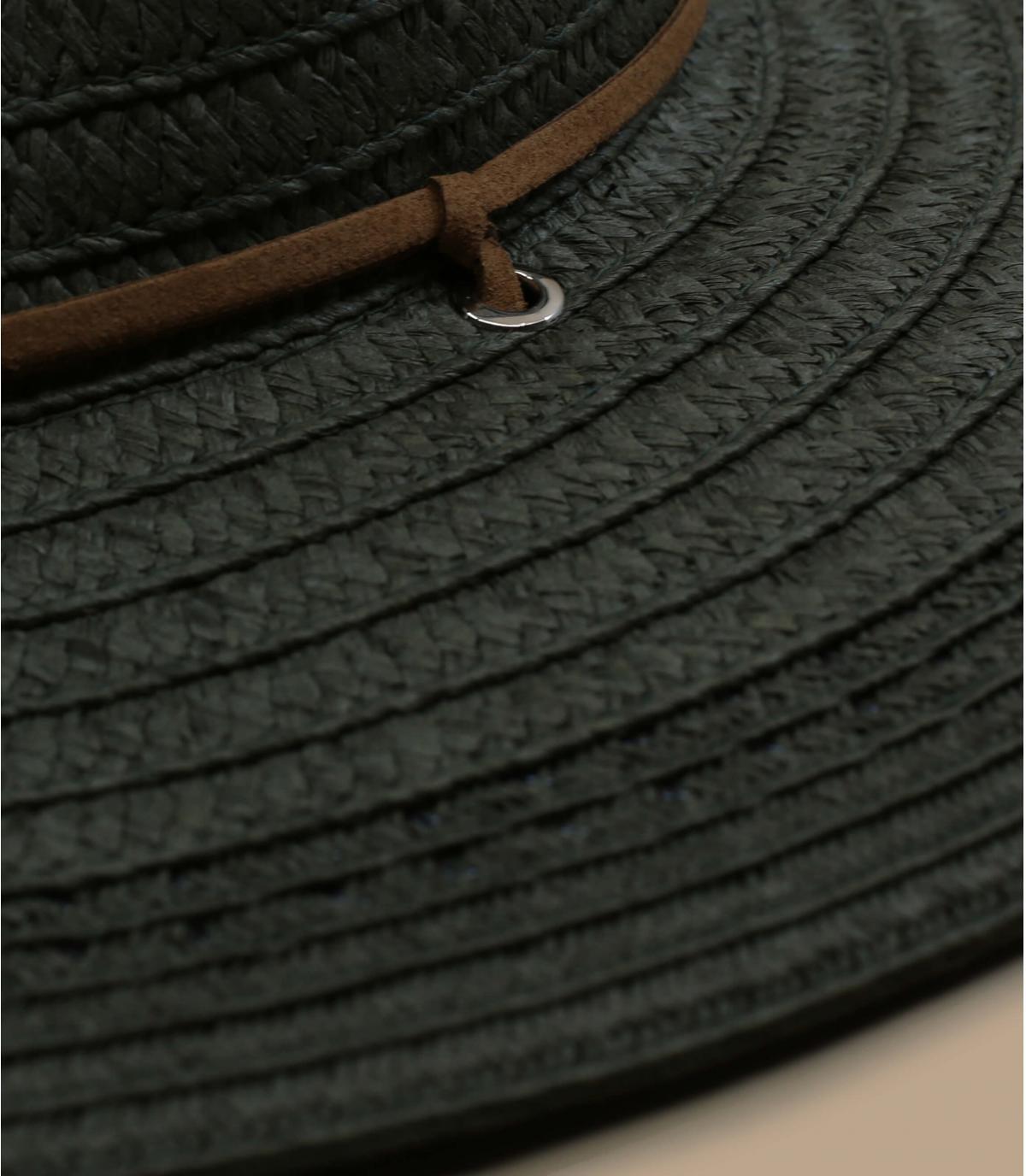 Détails Fedora leather band khaki - image 1