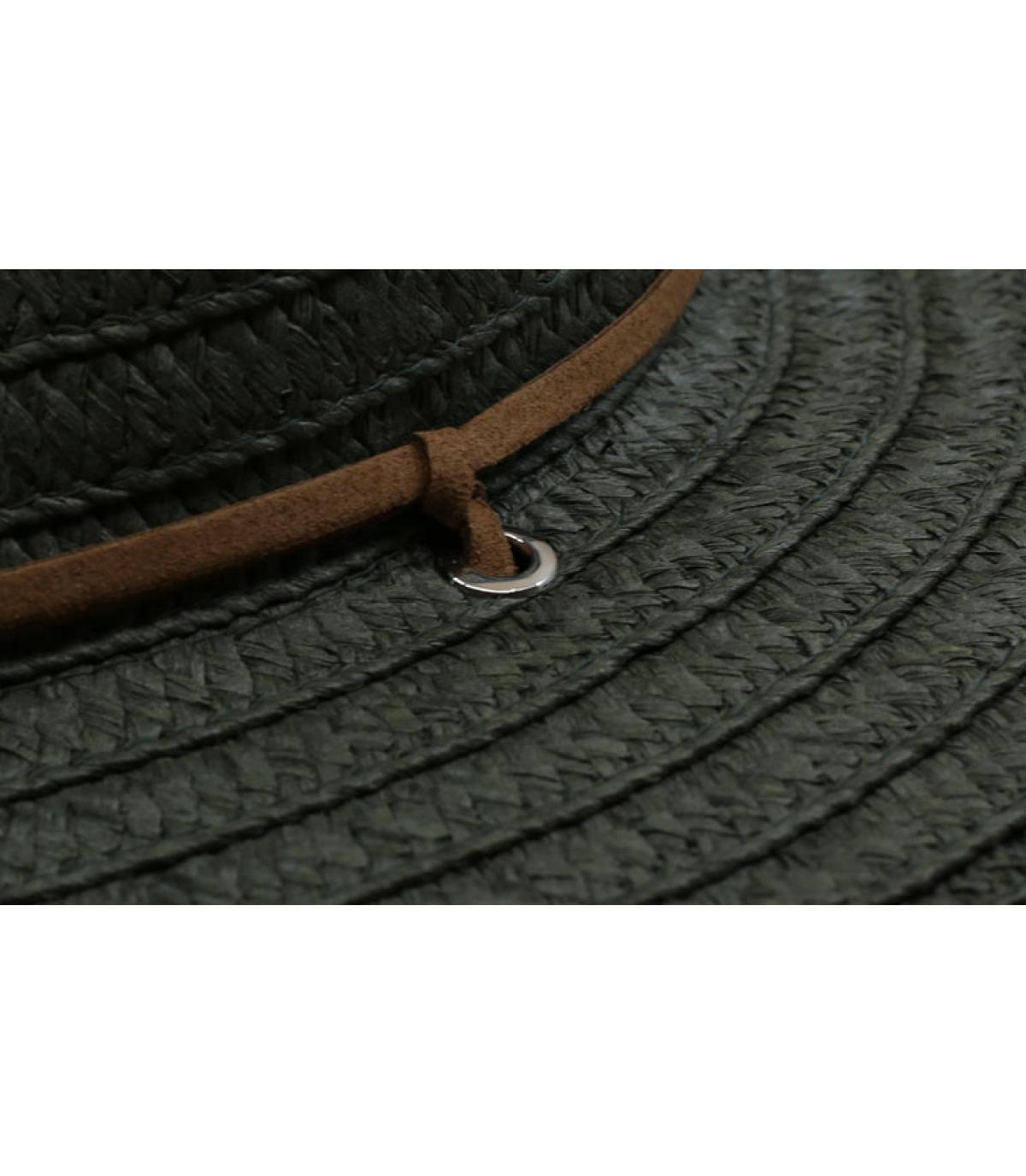 Détails Fedora leather band khaki - image 3