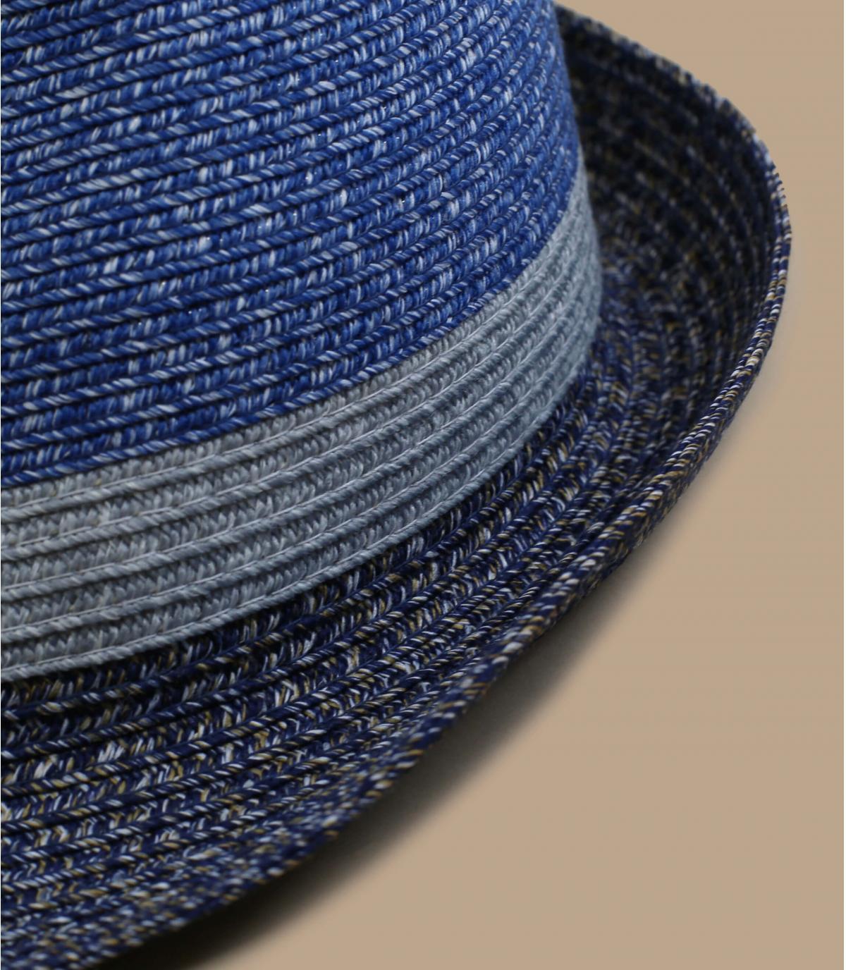 Grey trilby blue stripe