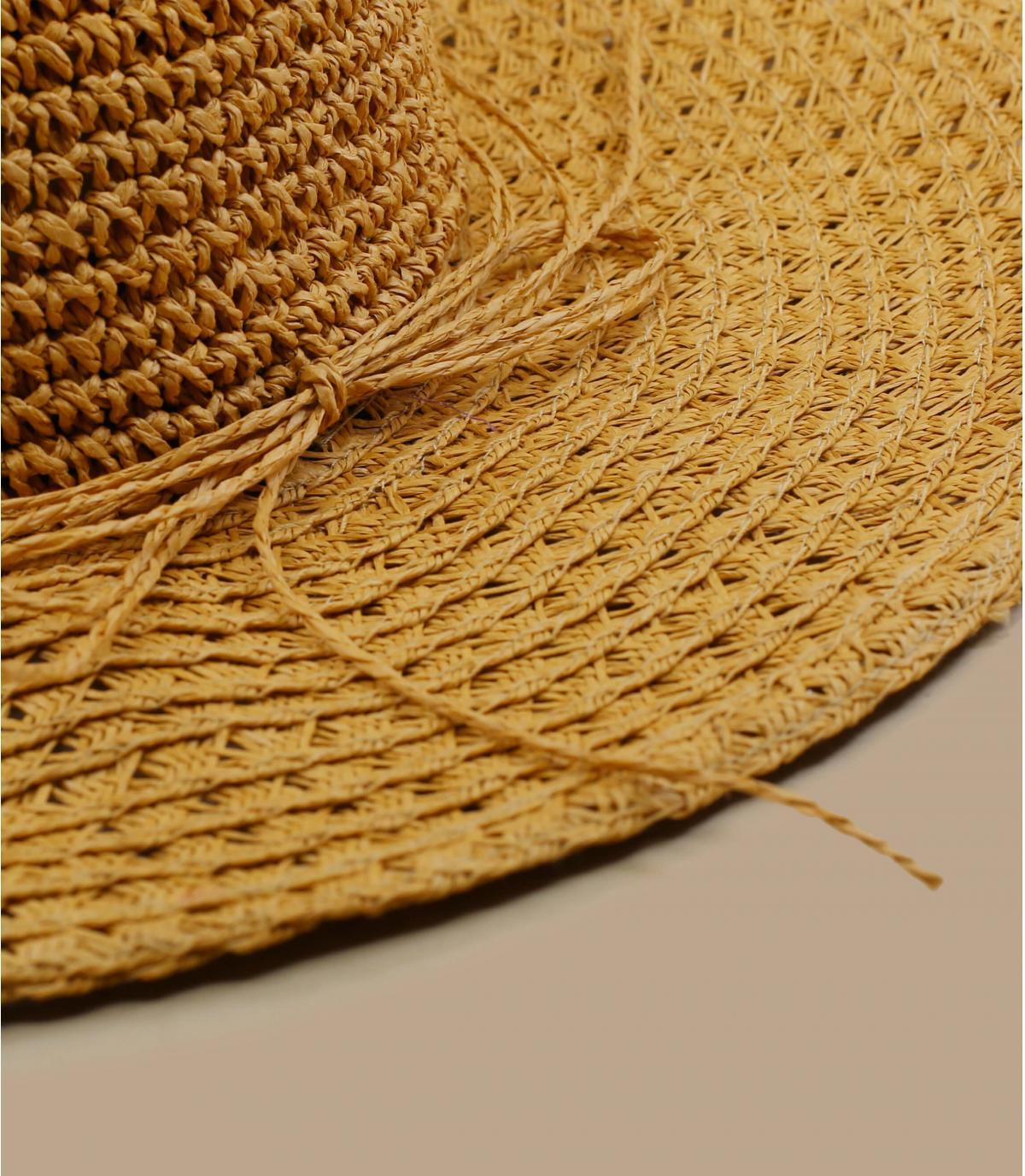 Crochet straw floppy hat