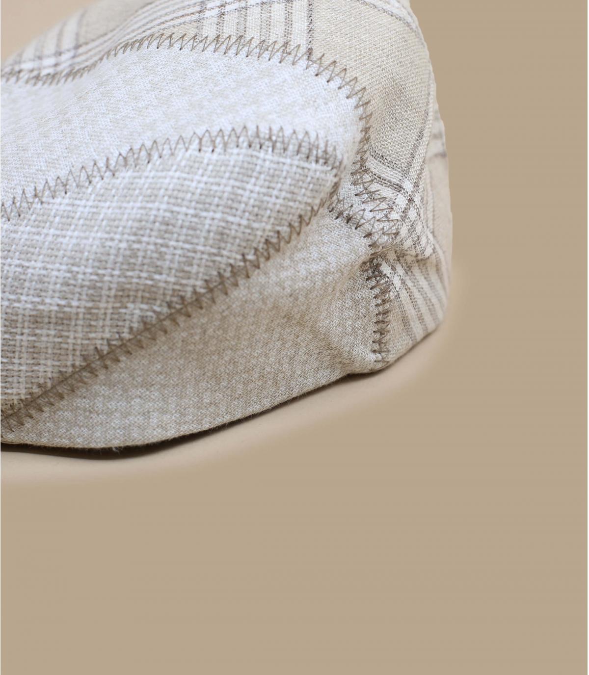 beige beret linen squared