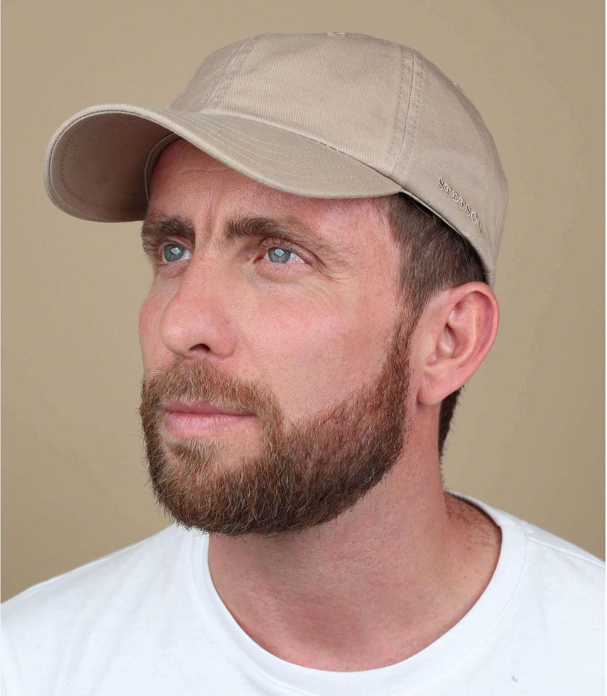 Stetson beige baseball cap