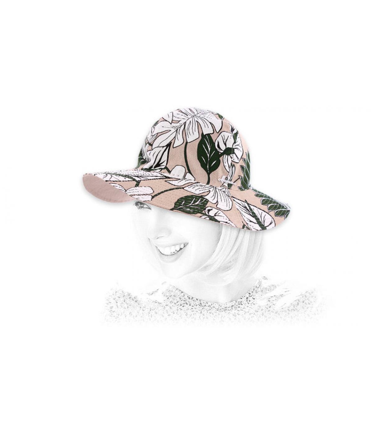 Cotton hat flower print