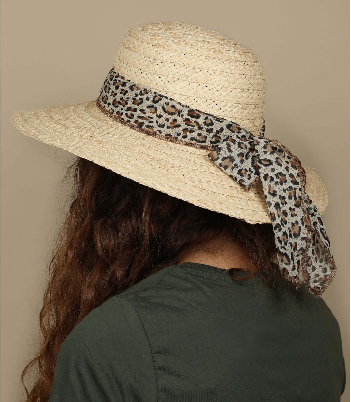 straw wide brimmed hat scarf