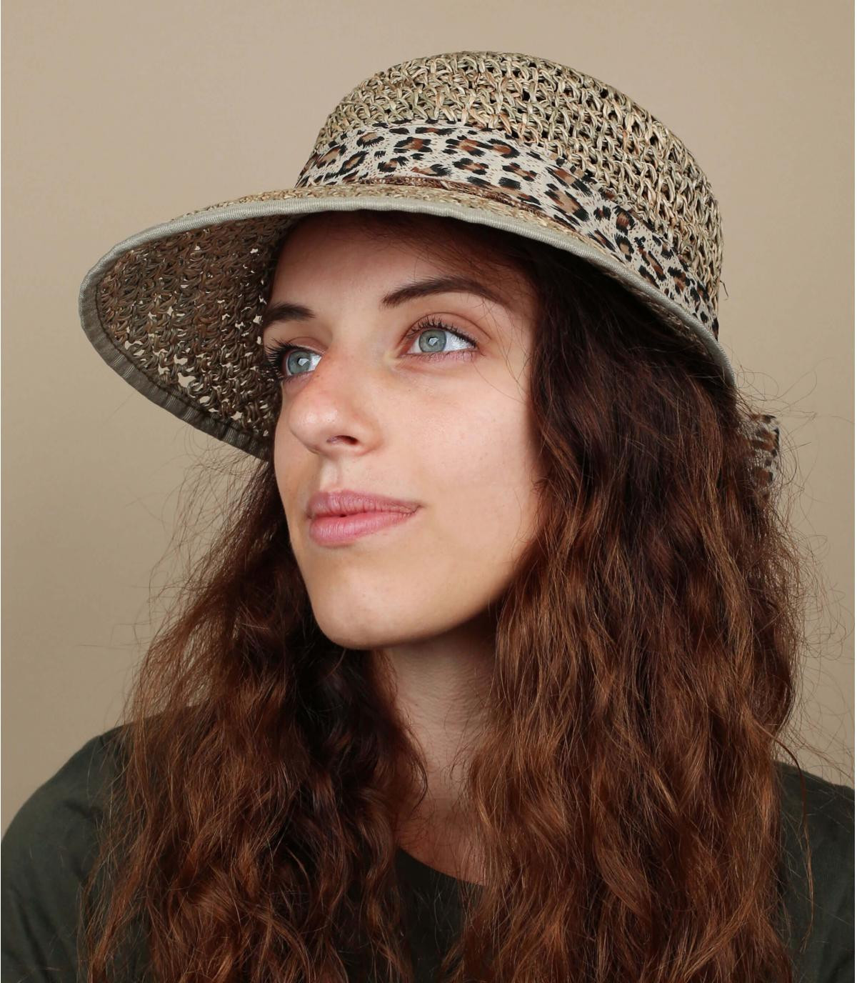 straw visor printed ribbon