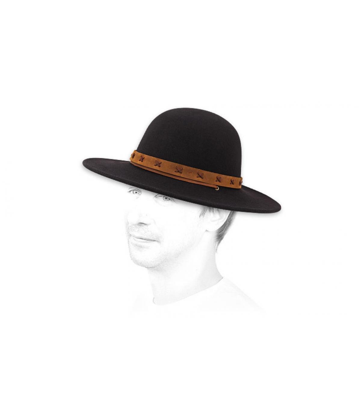 f81d60995a5f21 Brixton men felt hat - Clay hat black tan by Brixton.