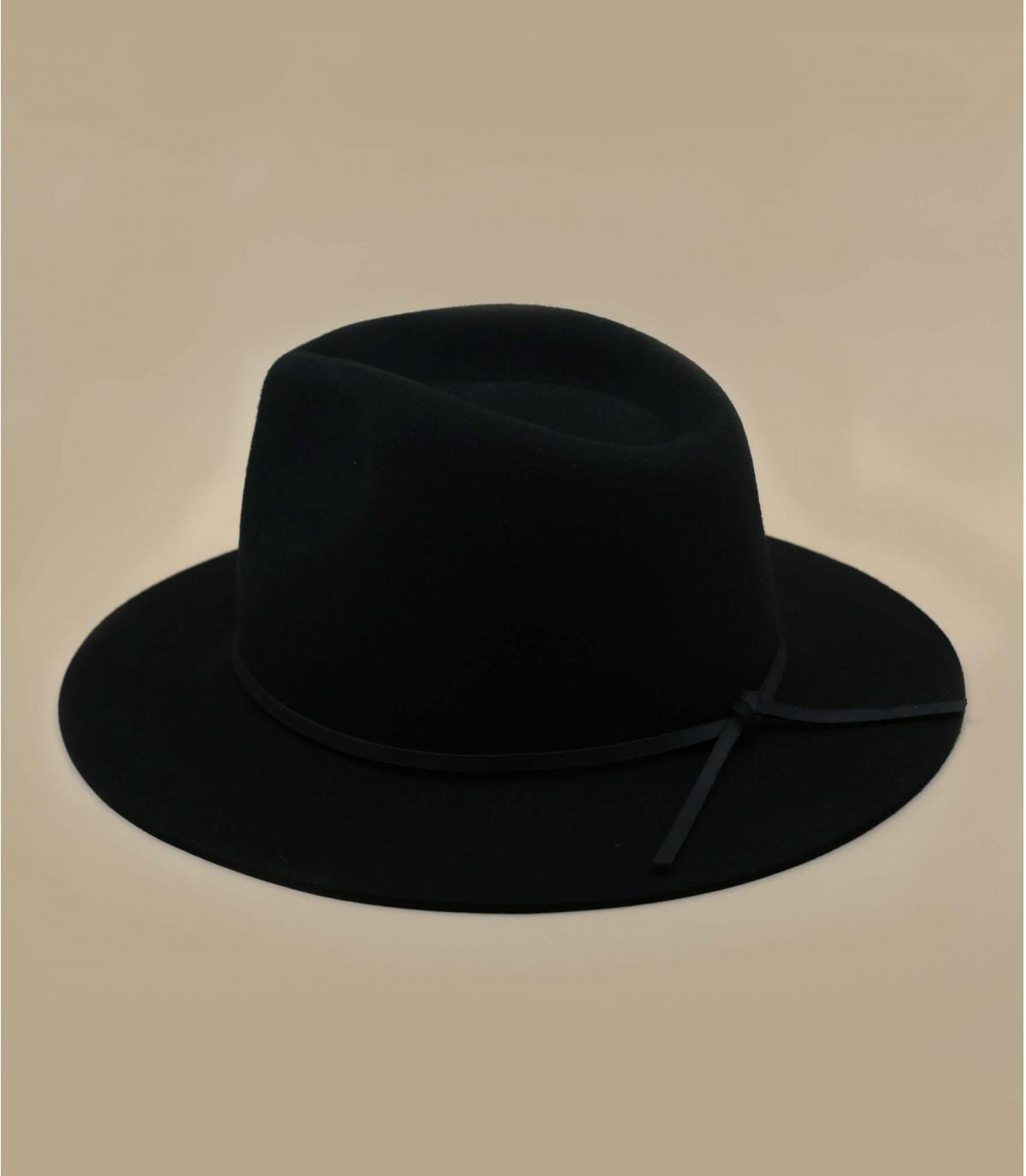 Brixton felt hat - Wesley fedora black by Brixton. 3d3bb106652
