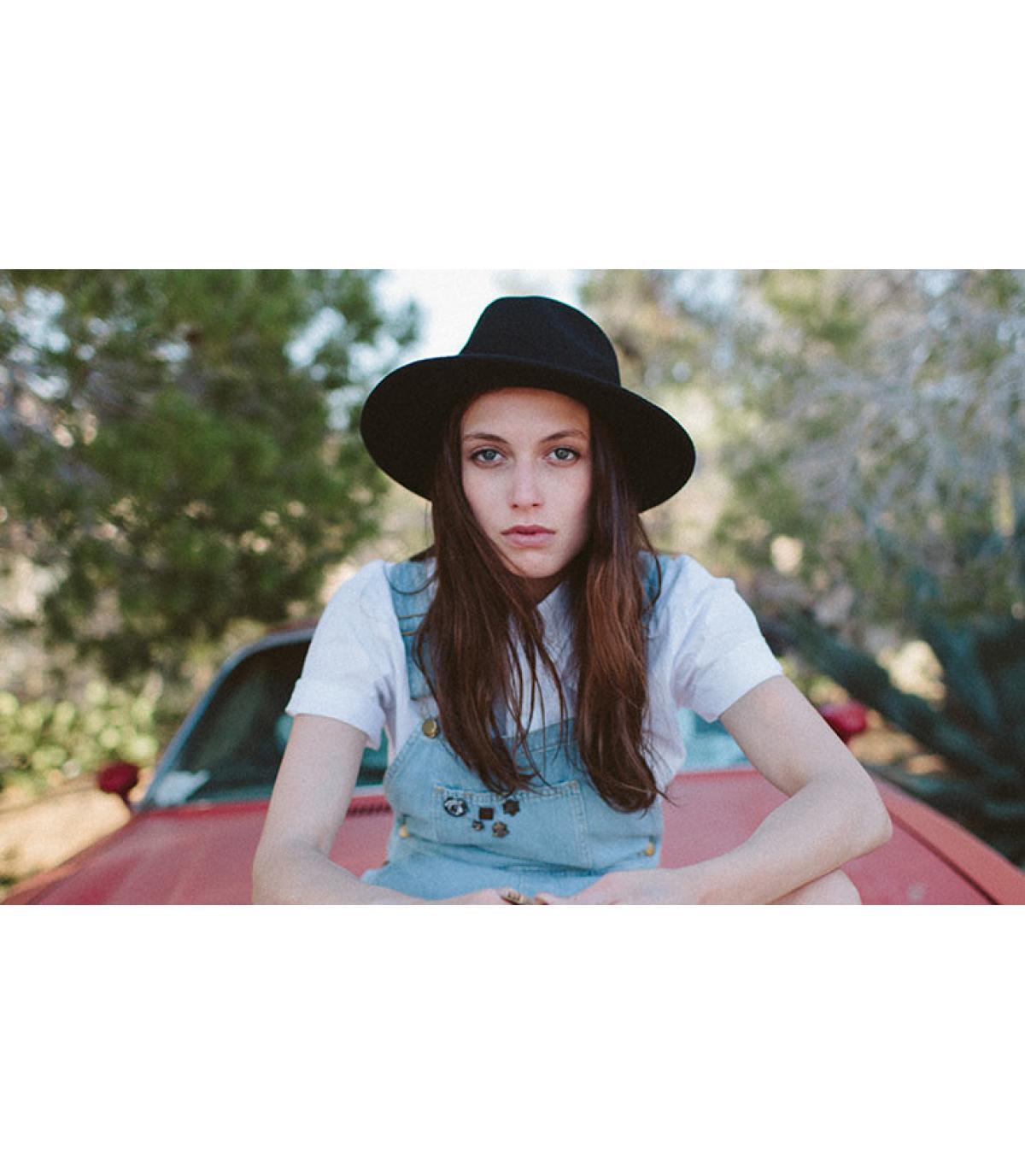 Brixton women hat. Détails Wesley fedora black wm - image 5 ... a10330a1169