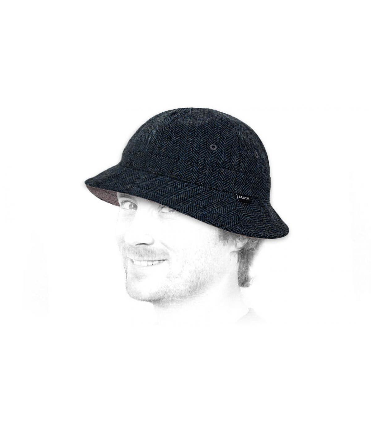Brixton navy bucket hat - Banks bucket hat navy grey by Brixton. 70ee63aadd42