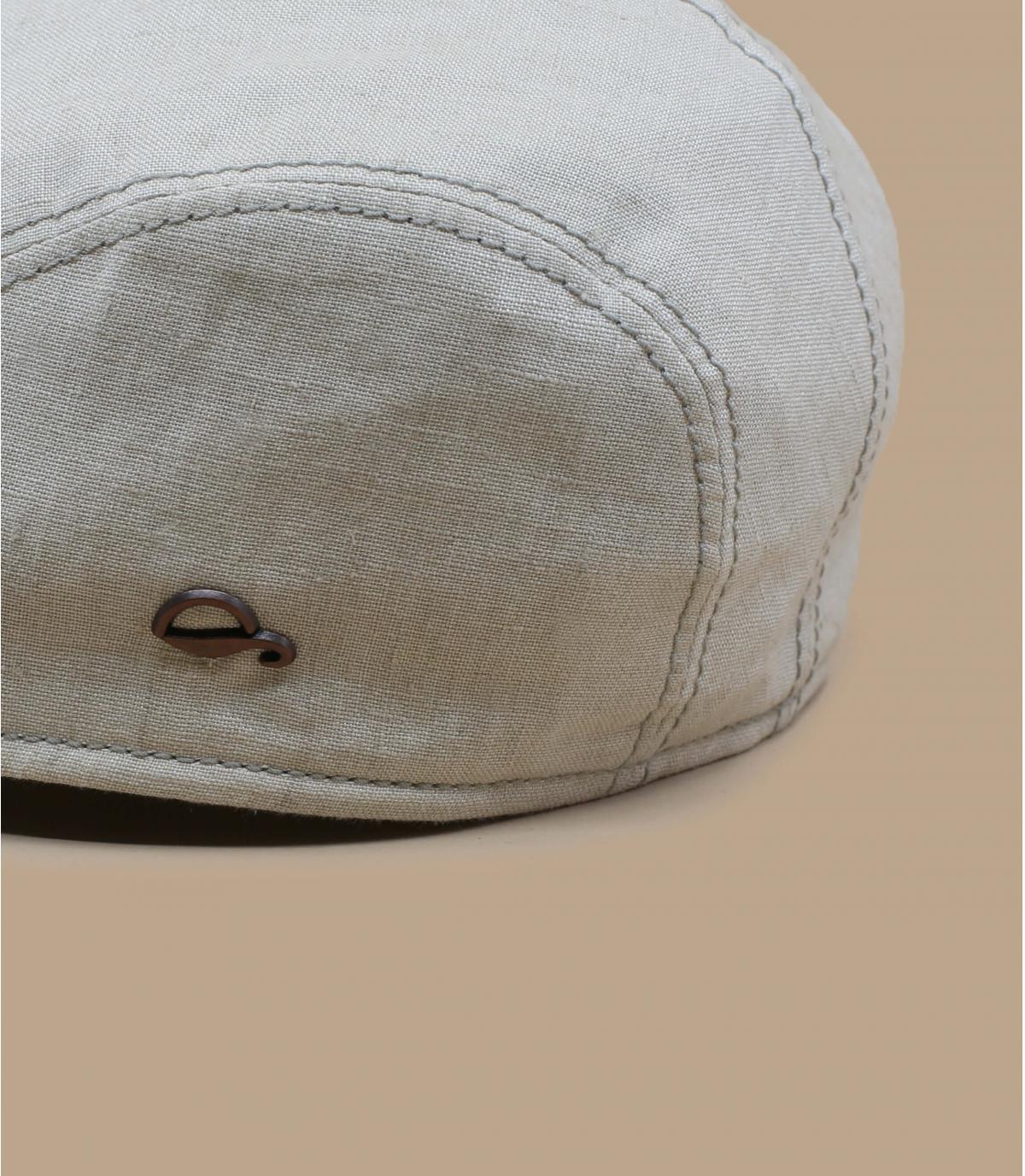 beige flat cap linen